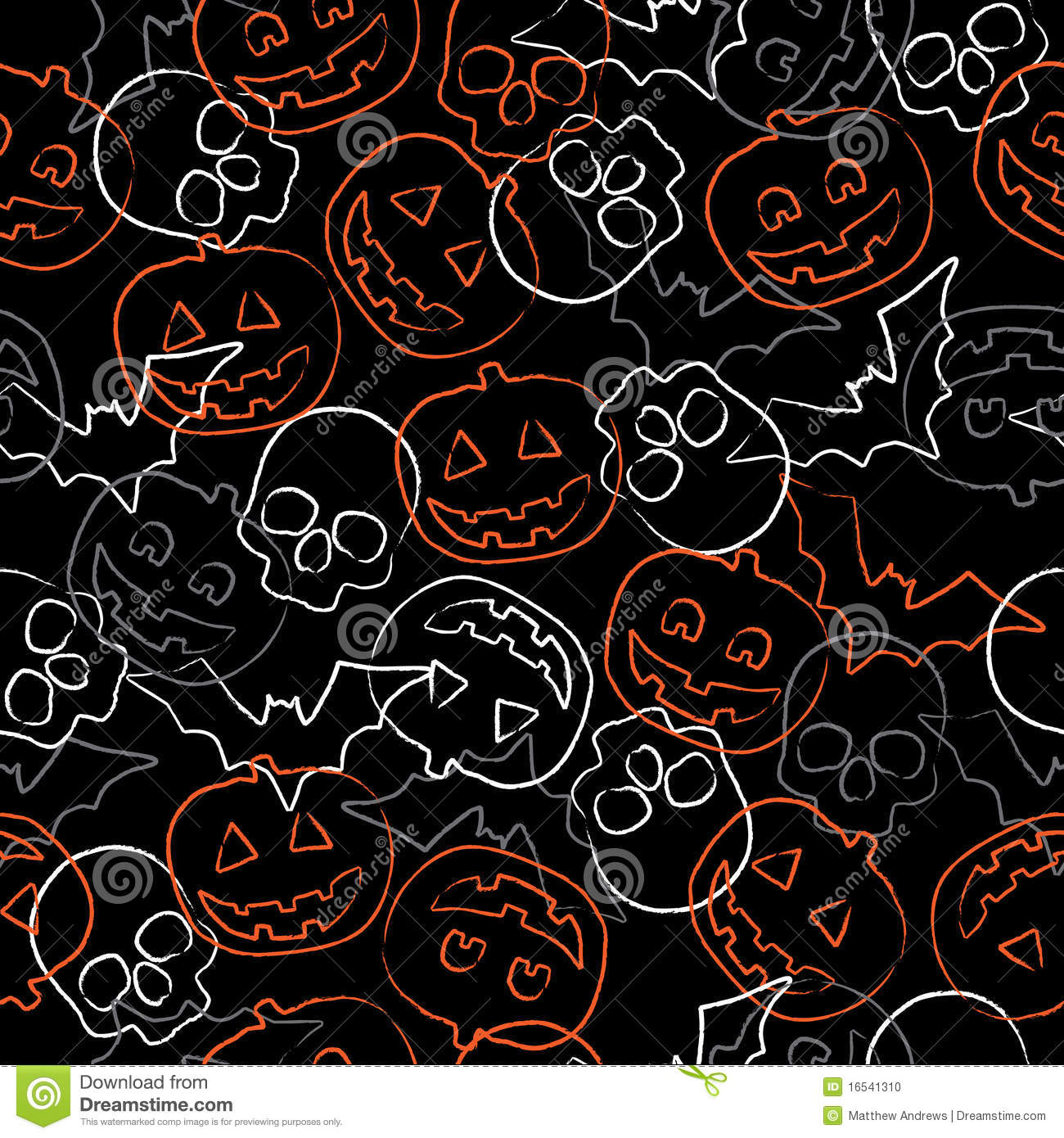 Seamless halloween pattern stock vector. Image of background ...