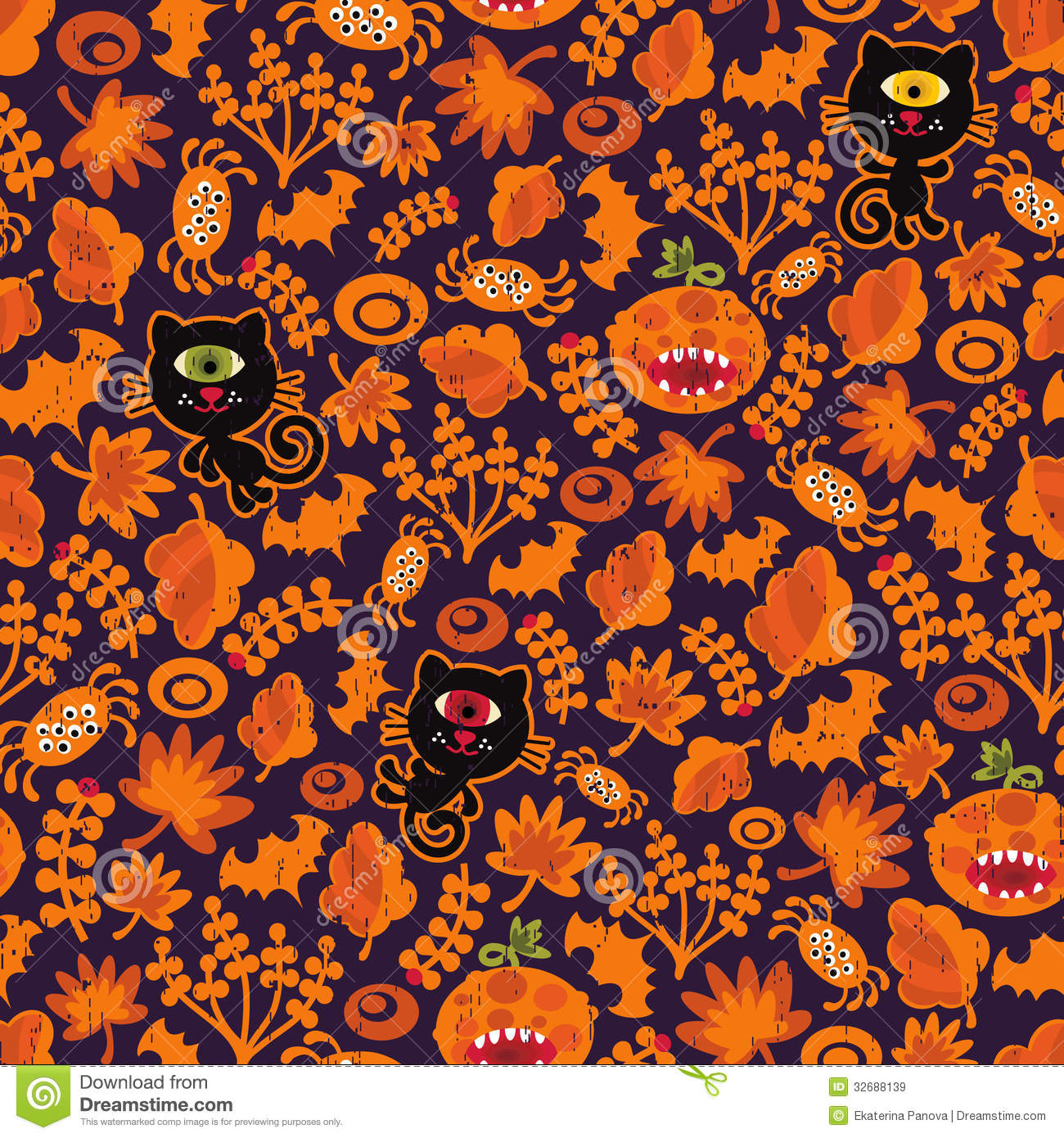 Beautiful Wallpaper Halloween Gold - seamless-halloween-texture-black-cat-vector-pattern-your-background-32688139  Picture_458945.jpg