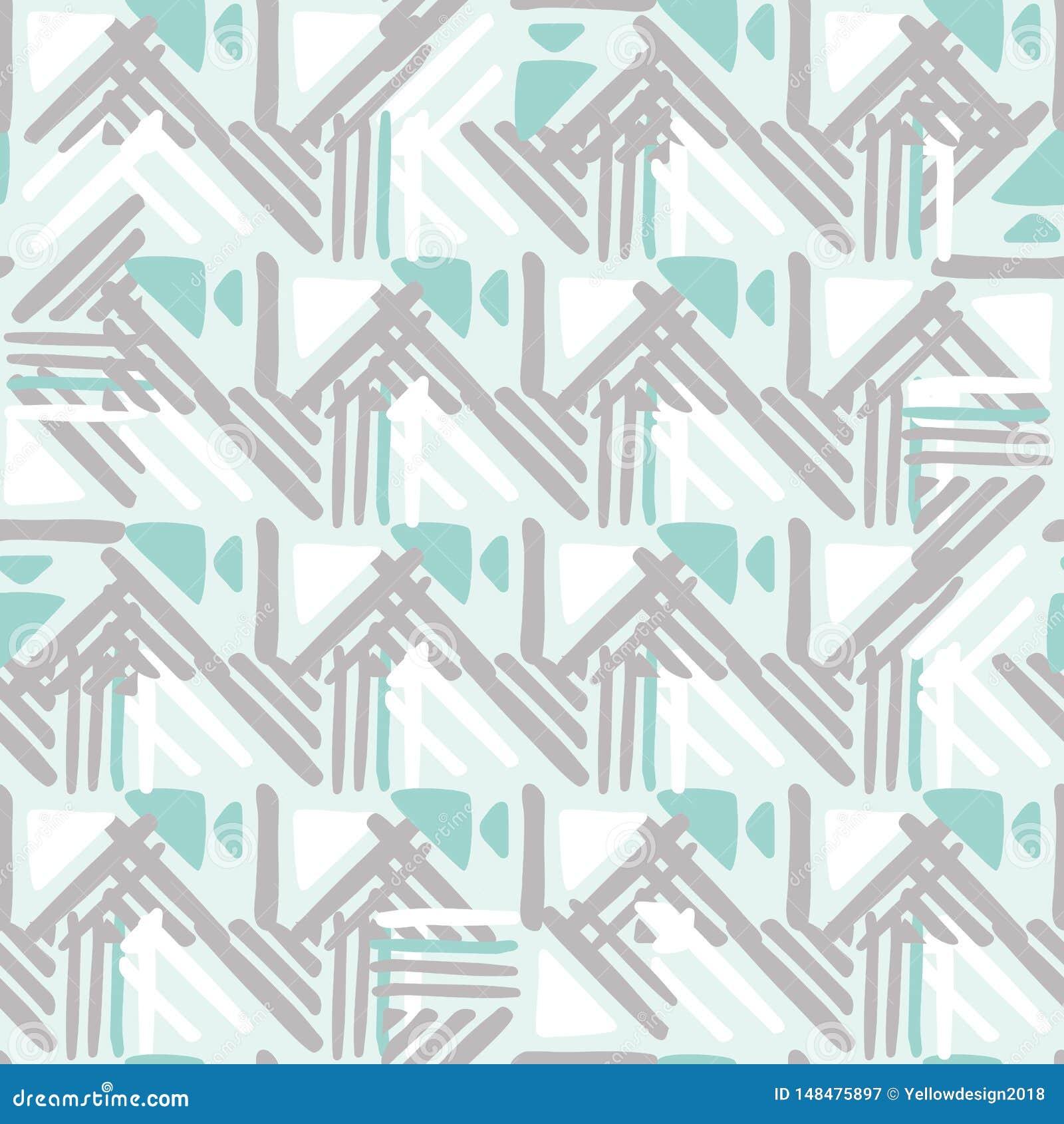 Seamless hand draw Folk pattern. weave lines ornament