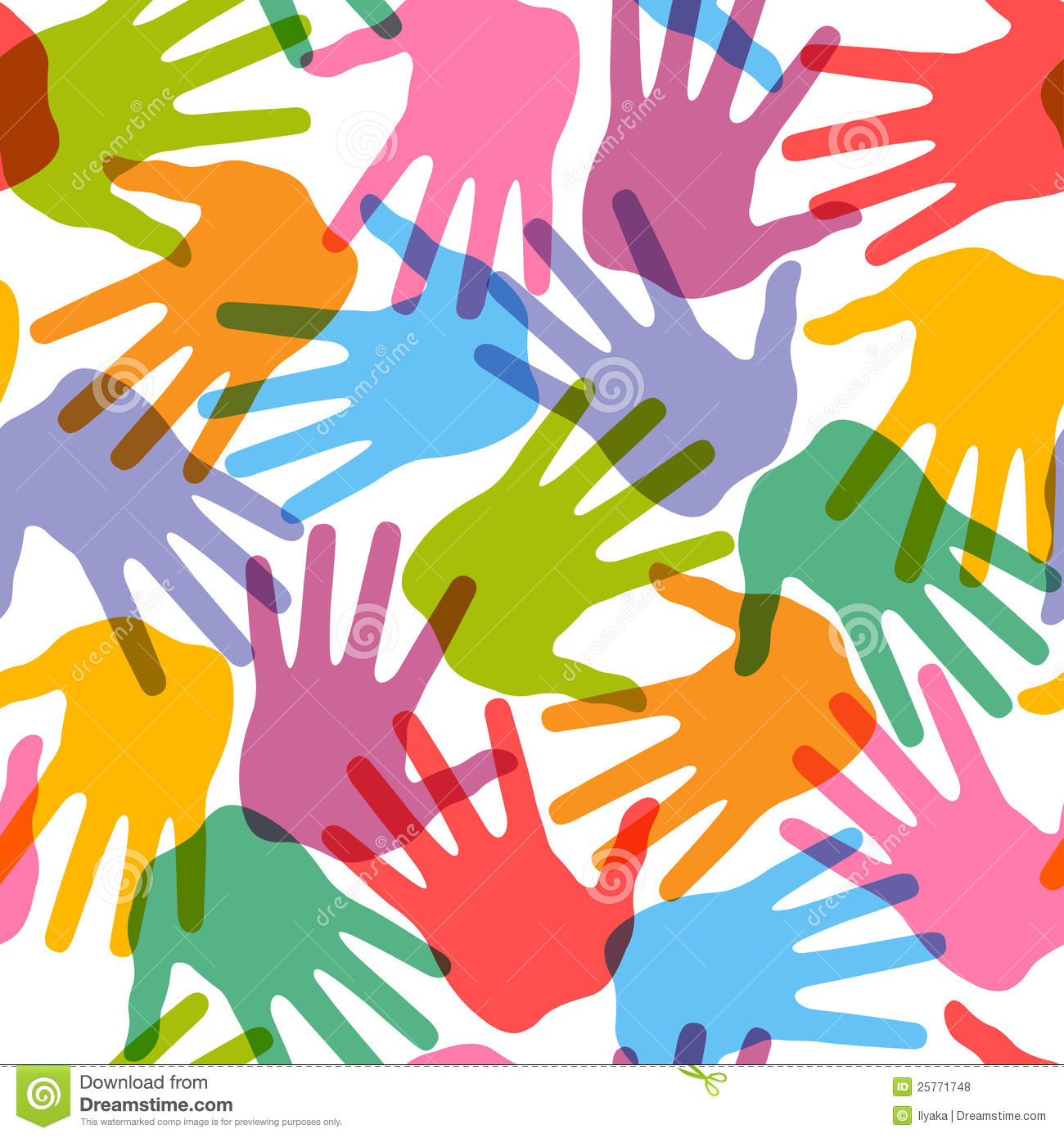 Seamless Handprint Pattern Royalty Free Stock Photos - Image: 25771748