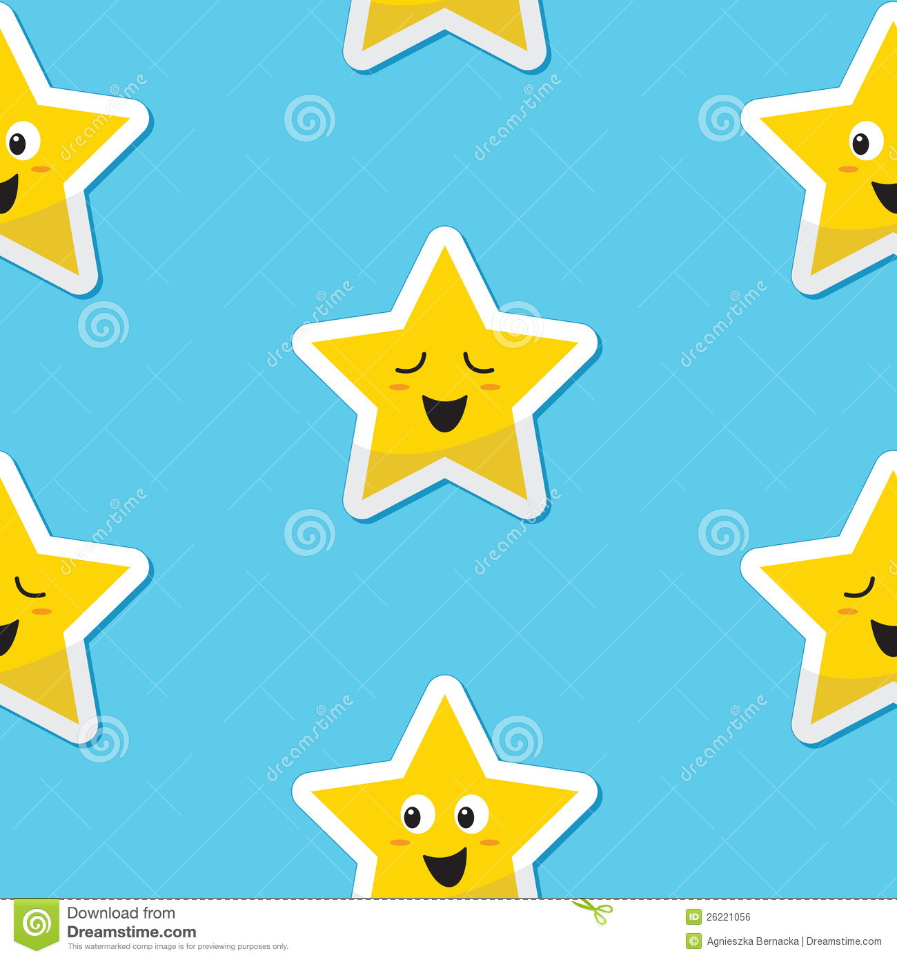 Seamless happy stars background for kids royalty free for Images of stars for kids