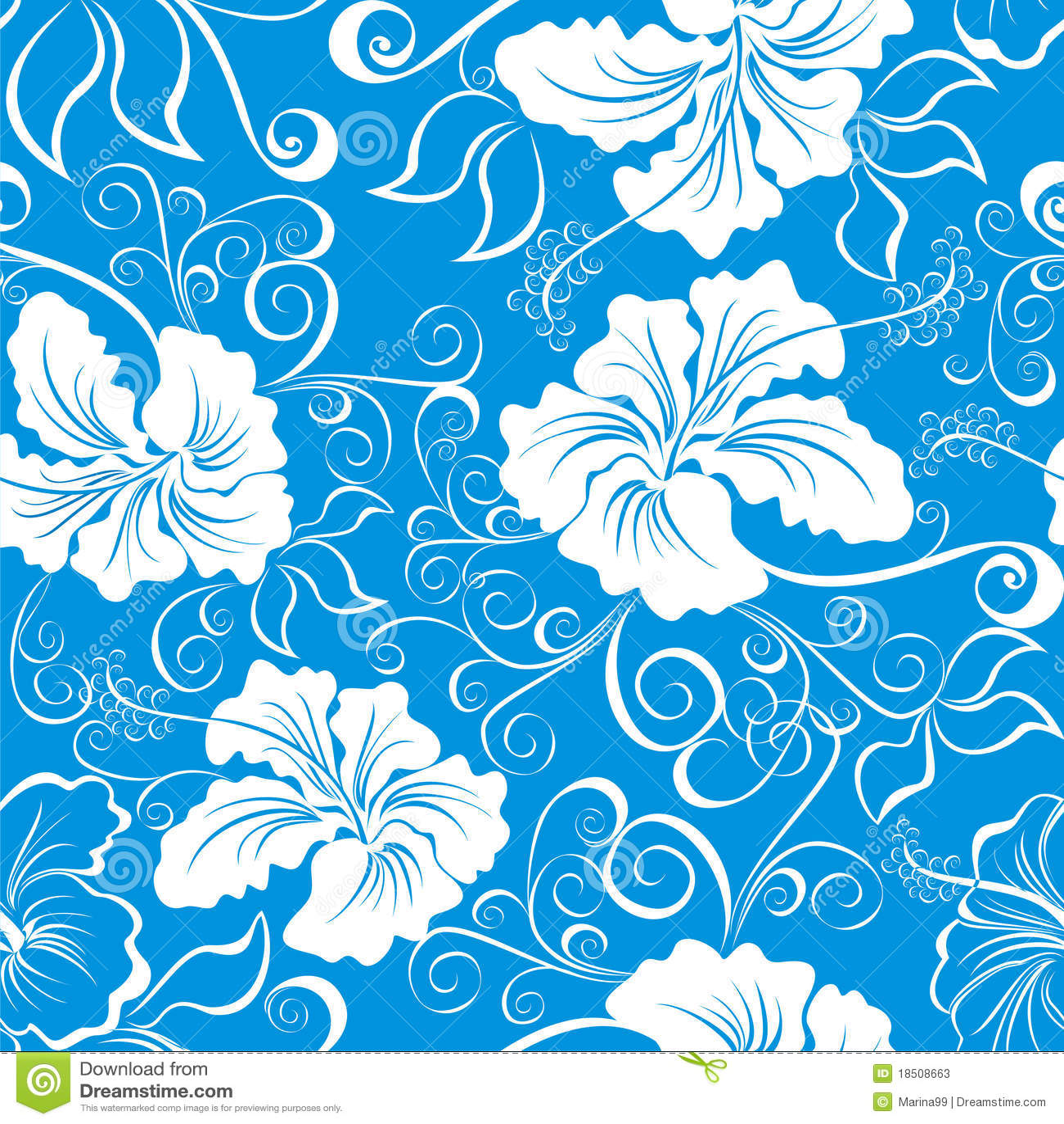 Seamless Hawaiian Floral Pattern. Vector Stock Photos ...