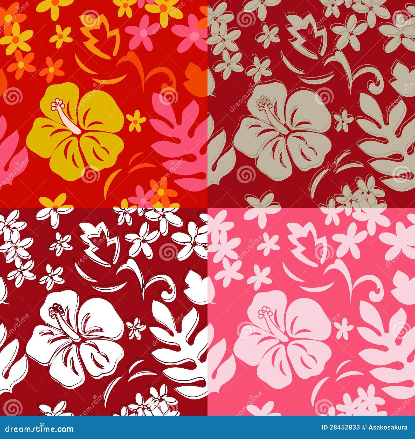 seamless hawaiian hula pattern stock vector
