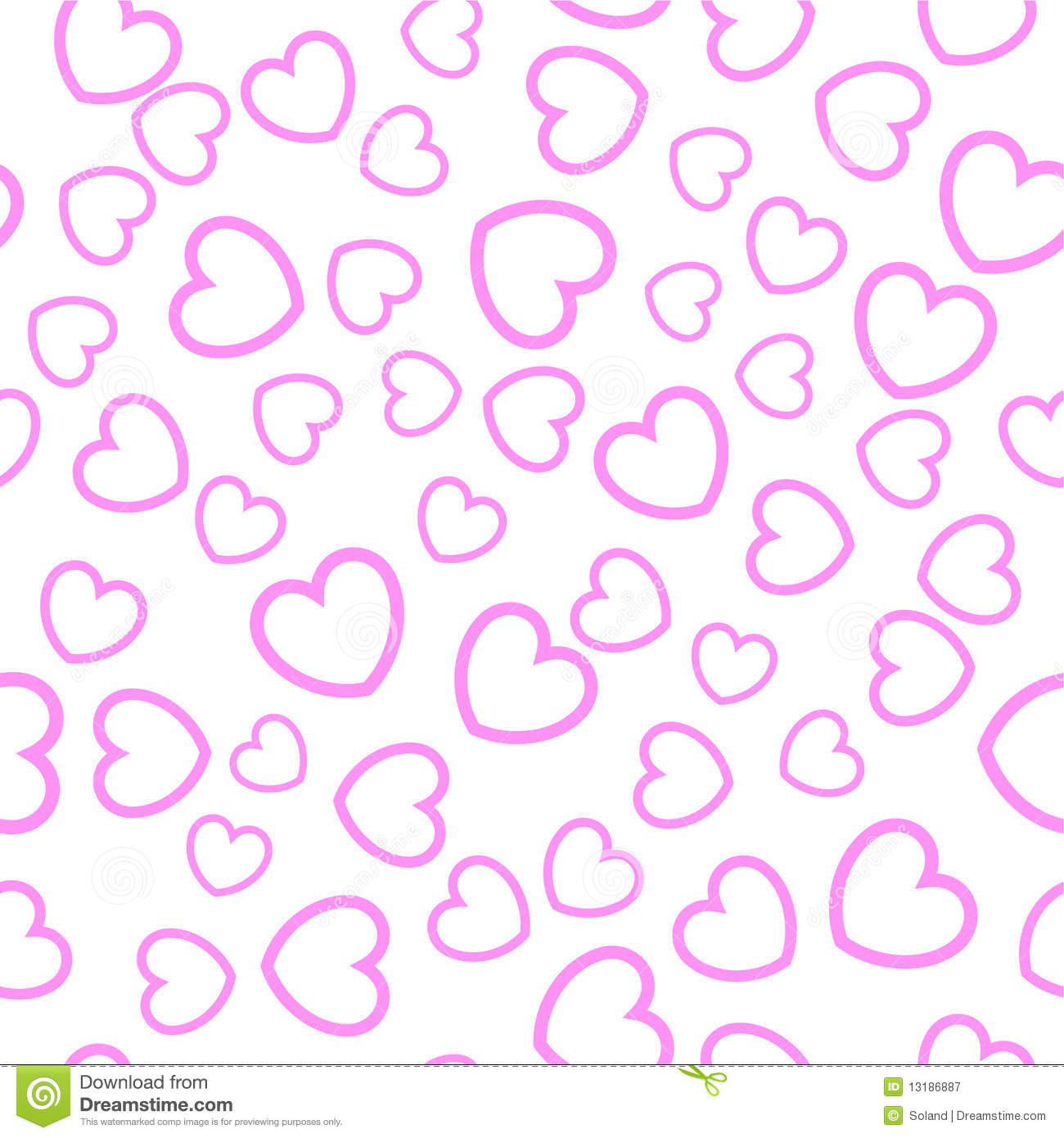 Seamless Heart Pattern Royalty Free Stock Photography - Image ...