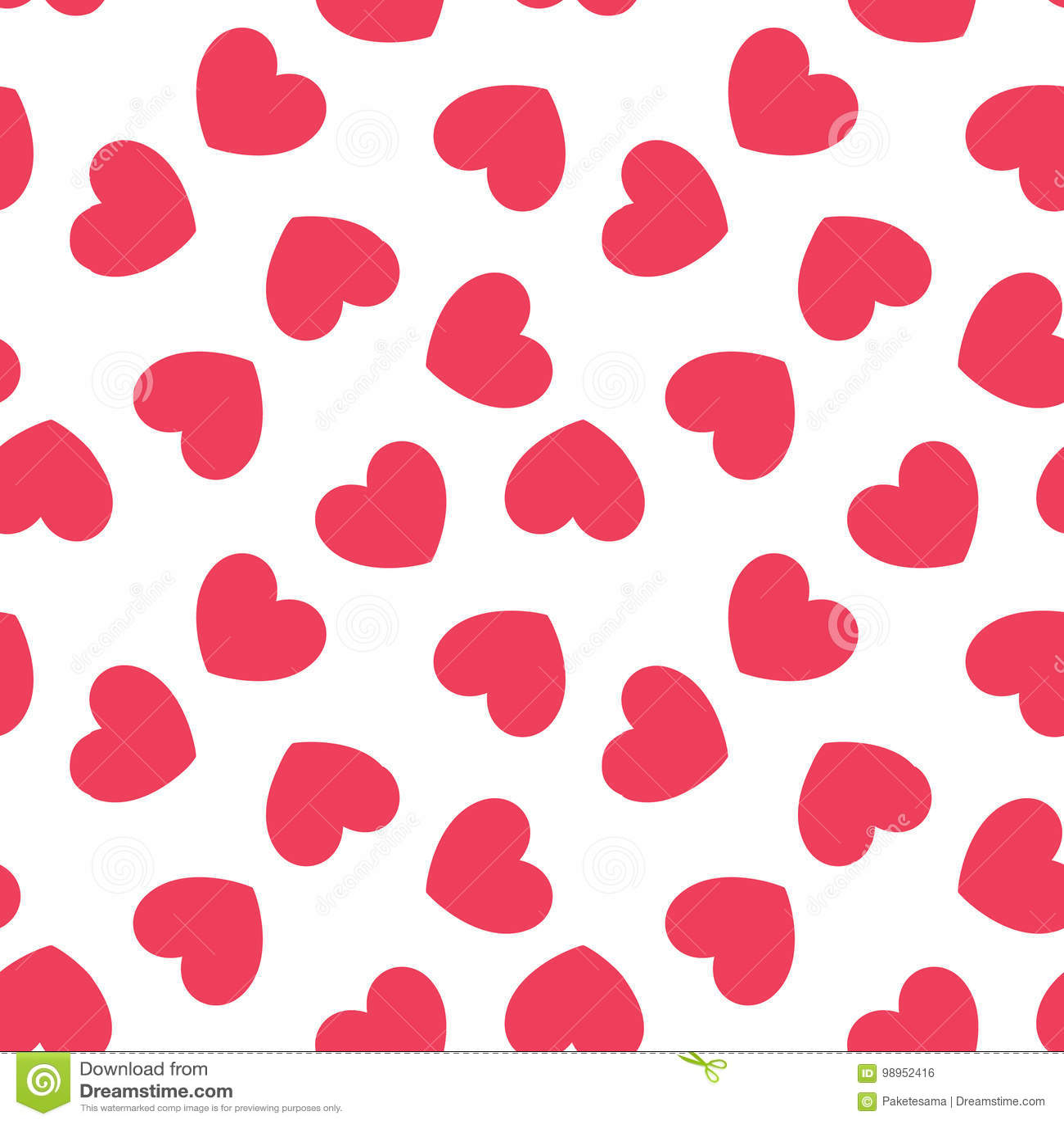 Seamless Hearts Pattern Stock Vector Illustration Of Card 98952416