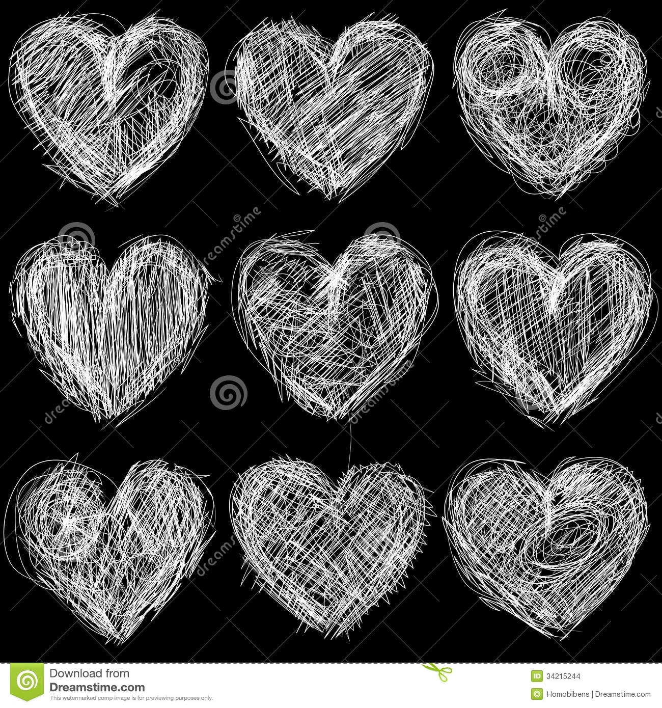 Seamless hearts chalkboard, love background and te