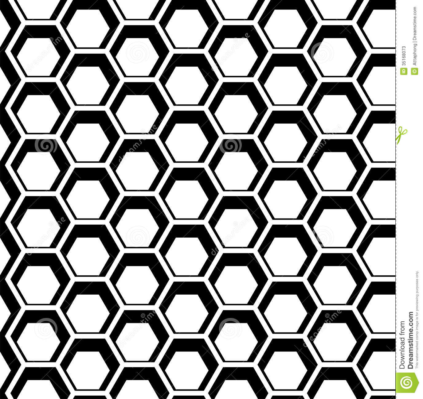 Seamless Hexagon Vector Stock Photos - Image: 35168073