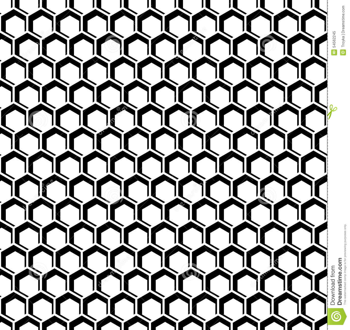 Seamless Hexagons Texture. Honeycomb Pattern. Stock Vector