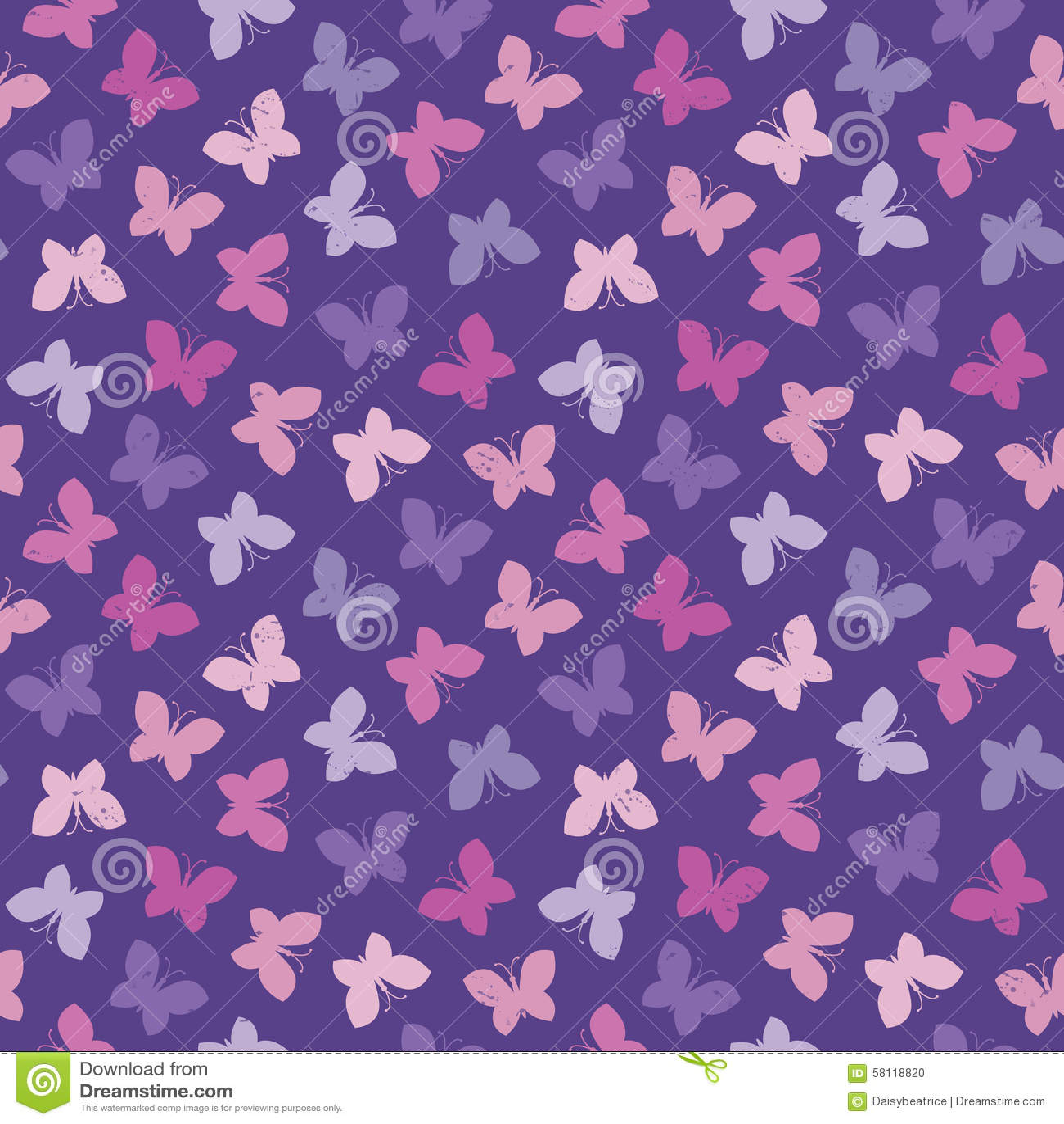 seamless hipster background butterflies pink purple stock