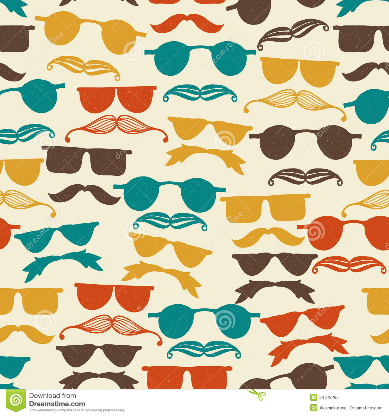 Hipster Glasses Template - Hipster Tie Stock Vector 126823367 ...