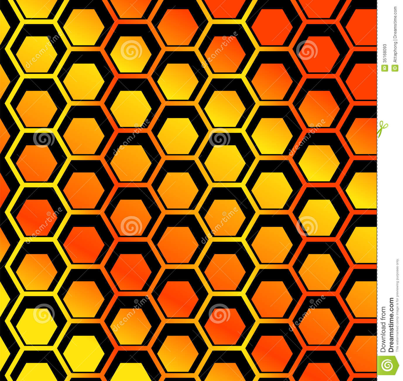 Seamless Honeycomb Pattern Vector Stock Vector Image