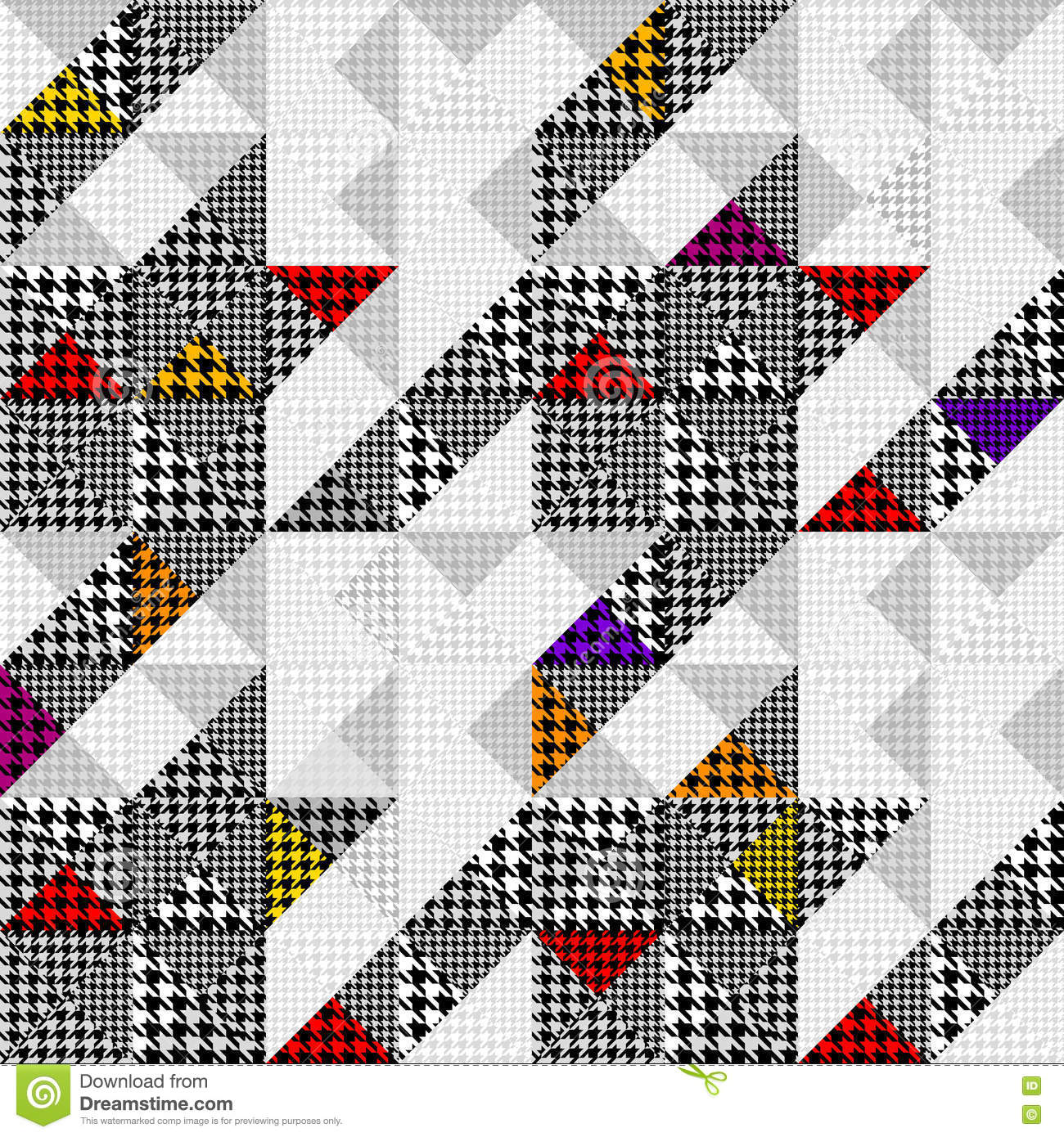 Seamless Hounds-tooth pattern