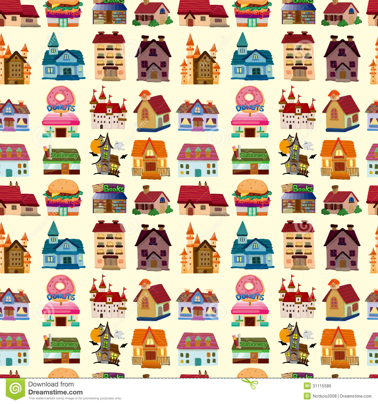 Seamless house pattern stock vector image of exterior for House pattern