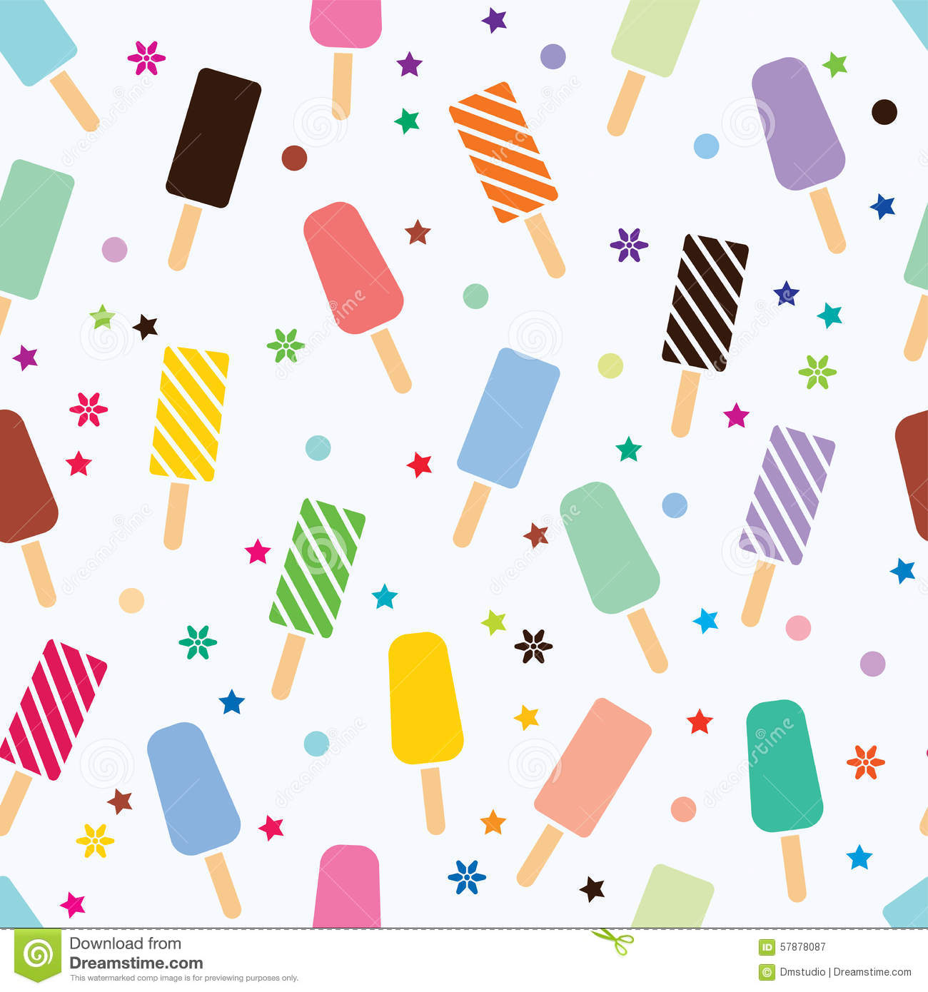 Seamless Ice Cream Wallpaper Royalty Free Stock Images: Vector Seamless Icecream Pattern Stock Vector