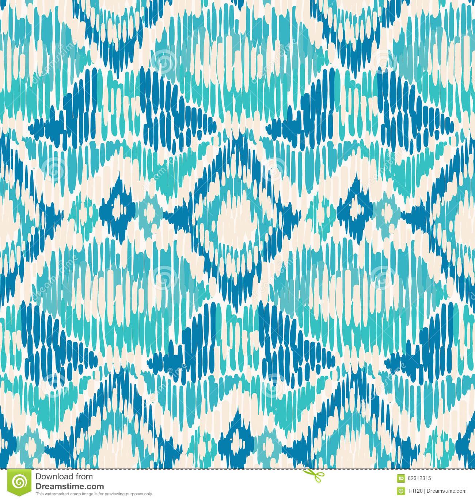 Seamless Ikat Pattern Stock Vector Image 62312315