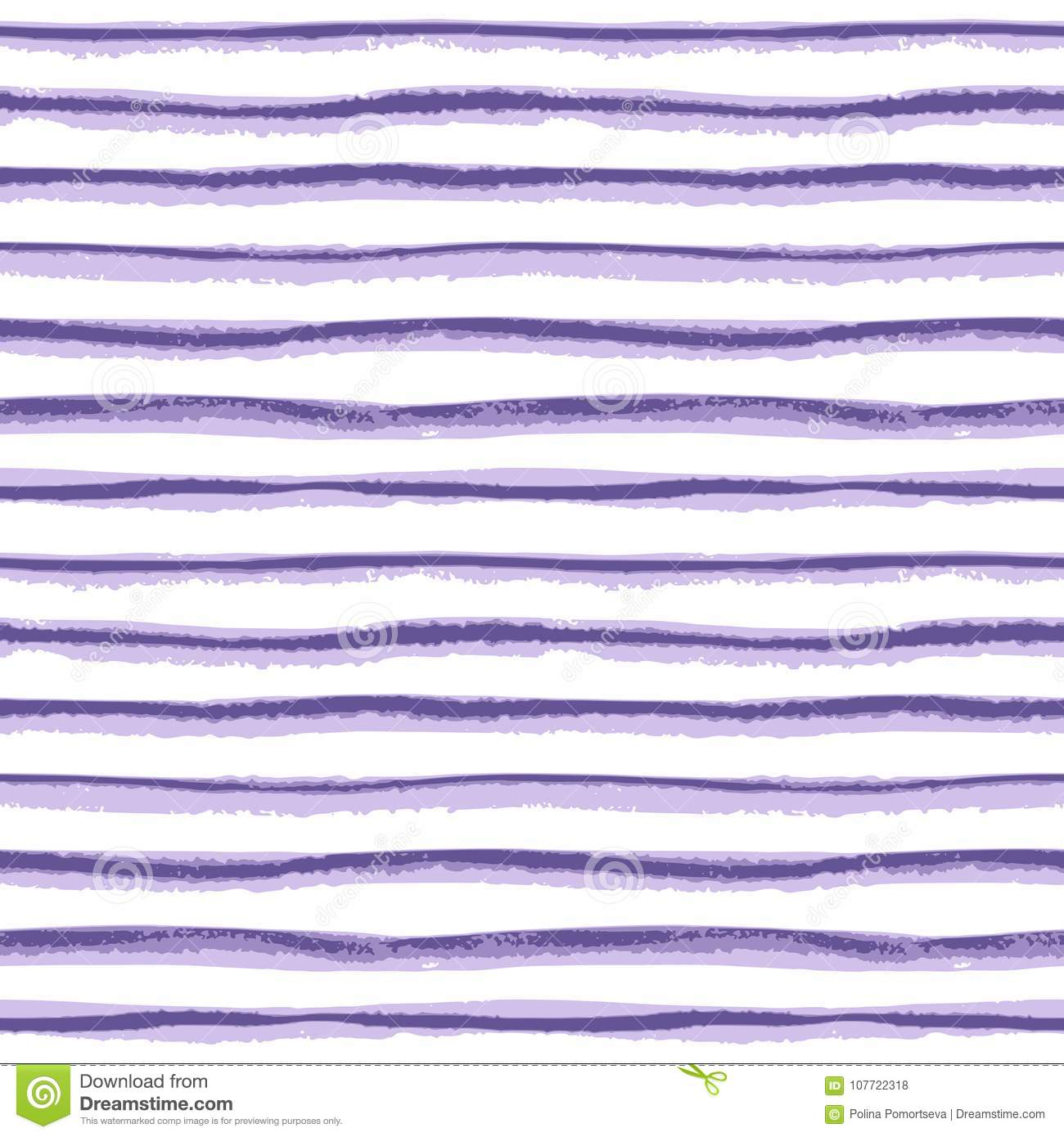 Seamless ink hand drawn stripe texture on white background.
