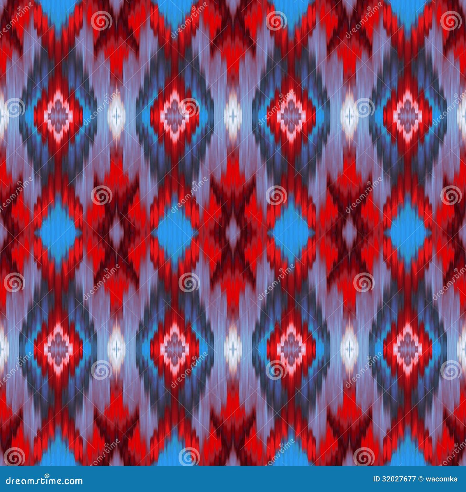 Seamless intricate ikat pattern background royalty free - Ikat muster ethno design ...