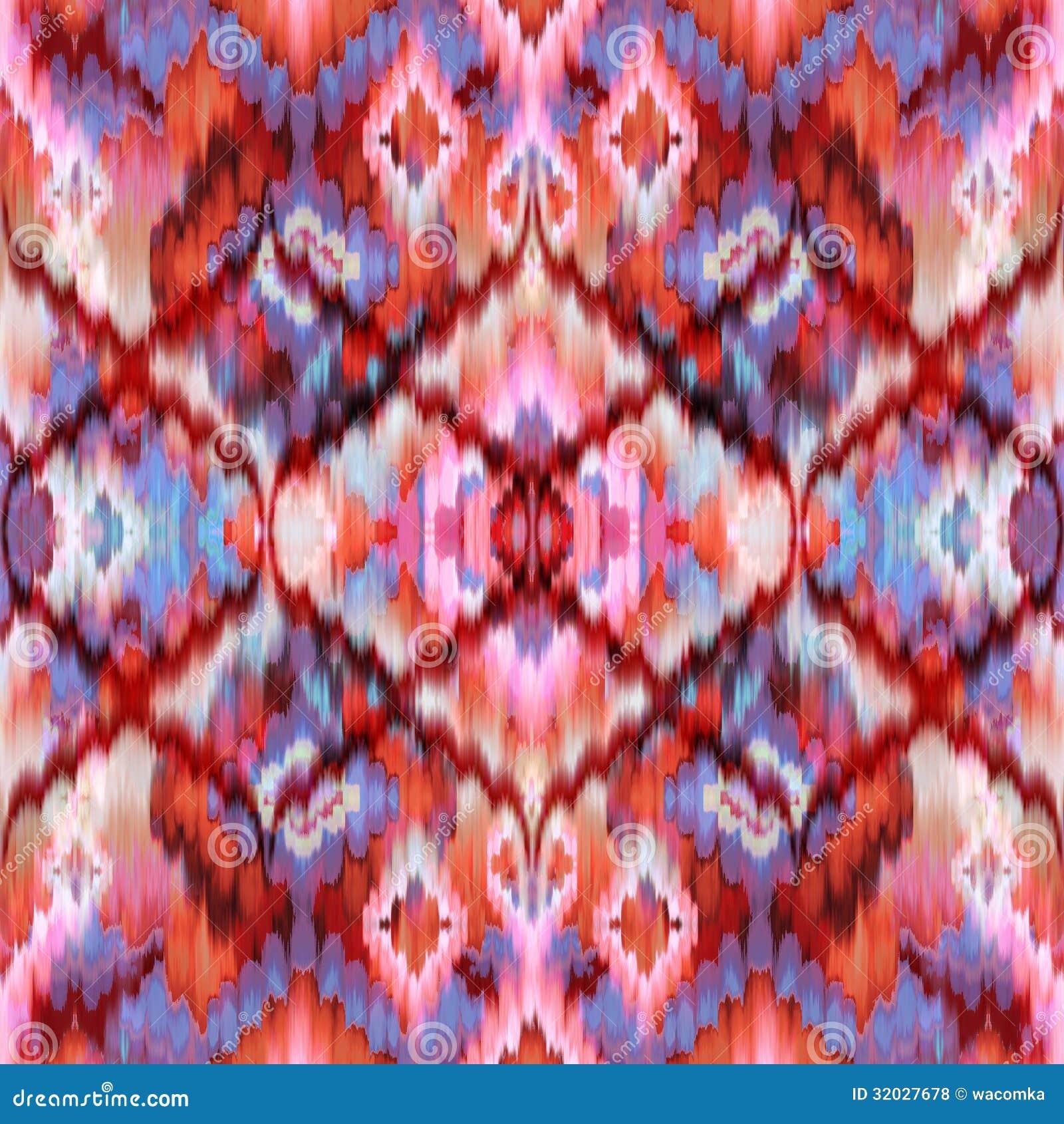 Seamless Intricate Ikat Pattern Background Arras Blue