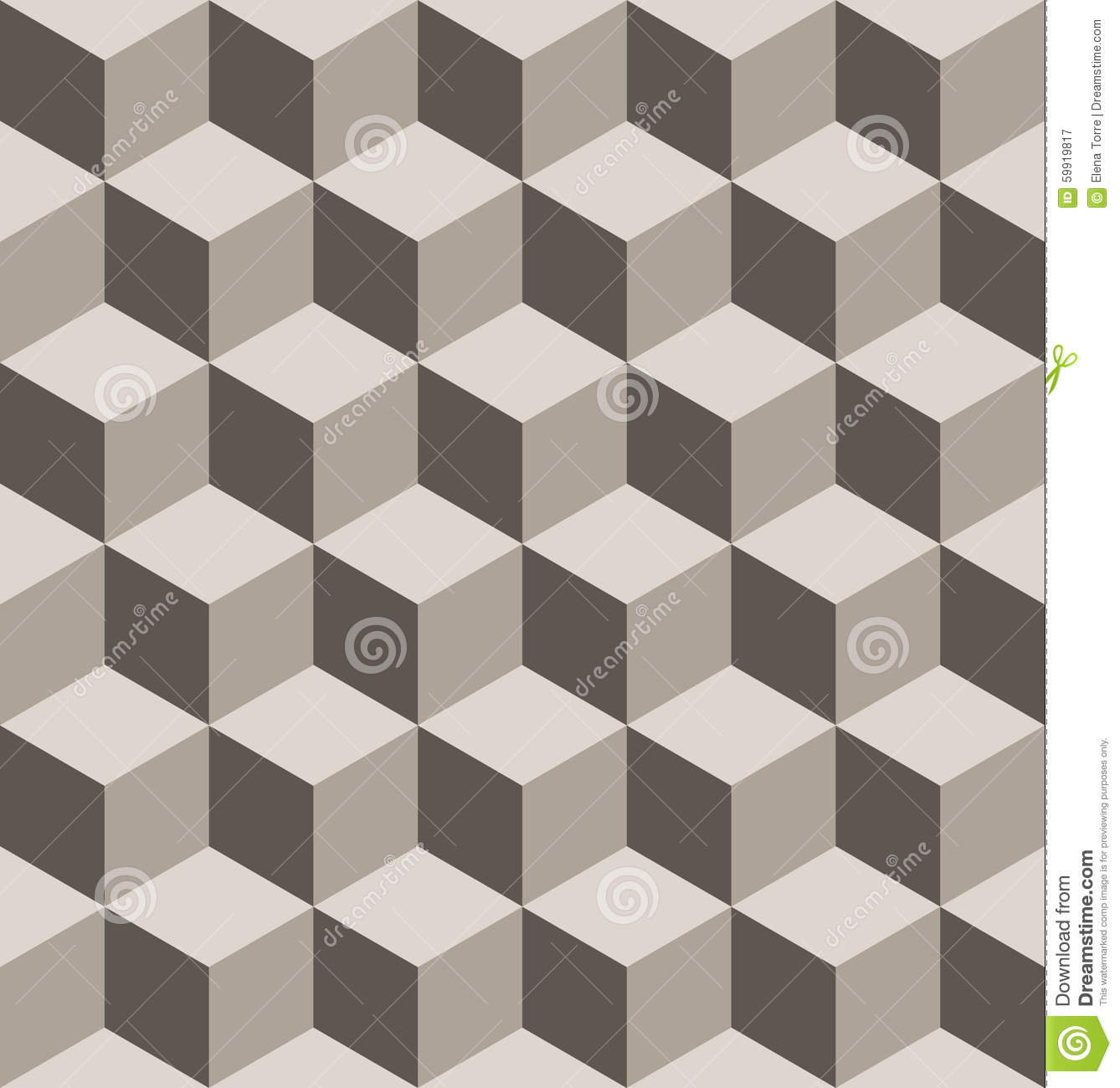Seamless Isometric Cube Pattern Stock Vector - Image: 59919817