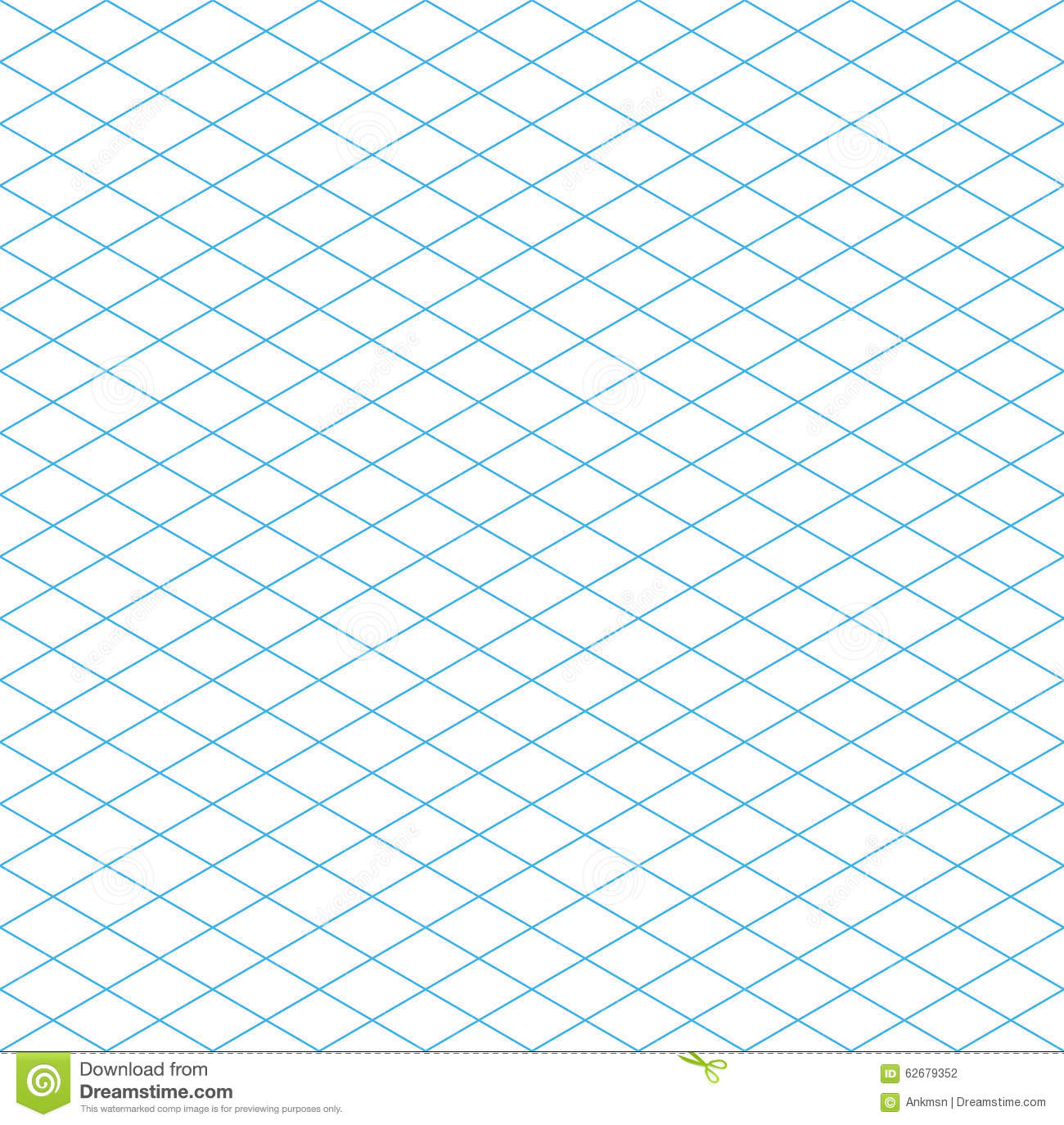 Seamless Isometric Grid Pattern Stock Vector Image: 62679352 ...