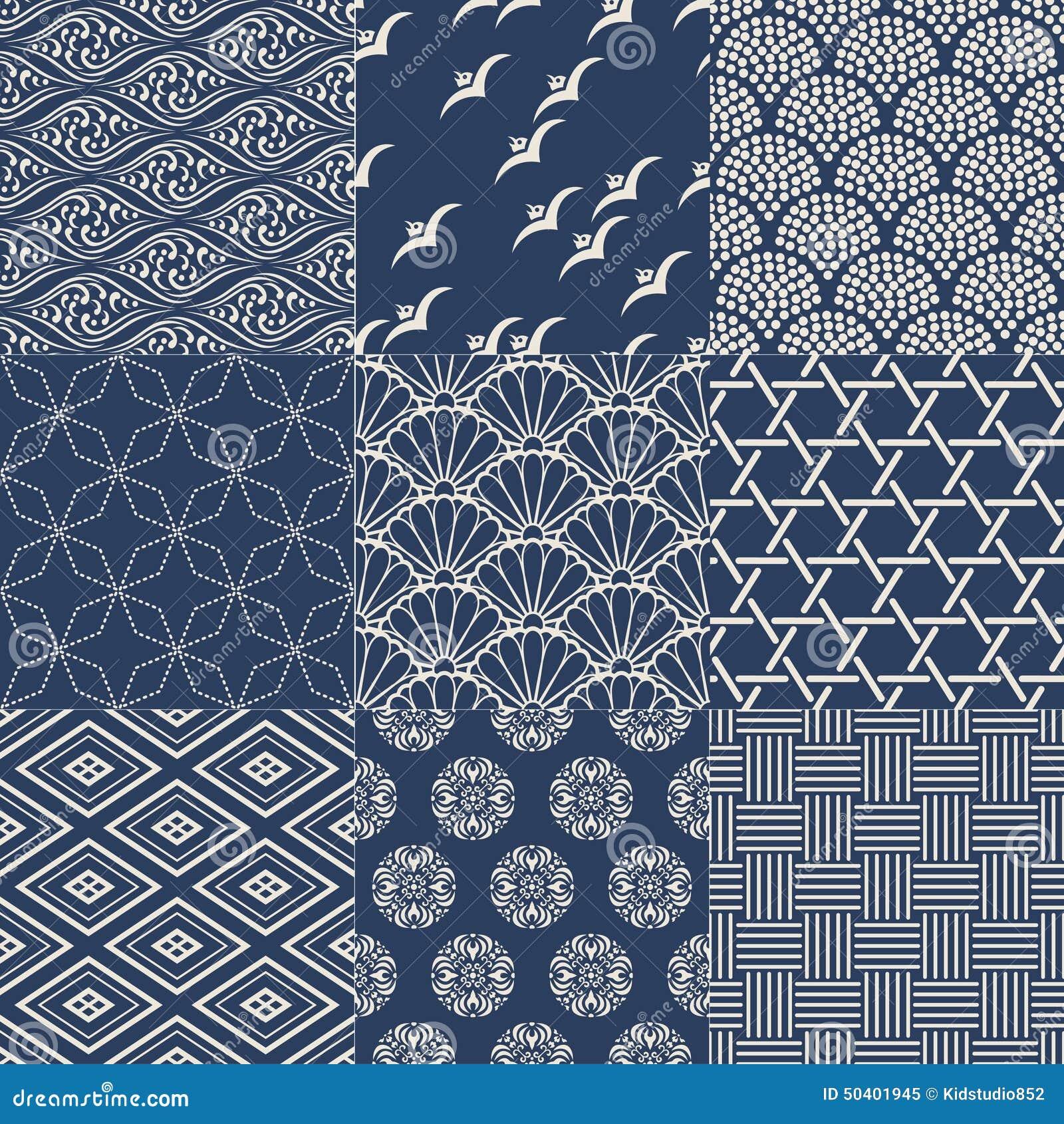 Seamless Japanese Pattern Stock Vector - Image: 50401945