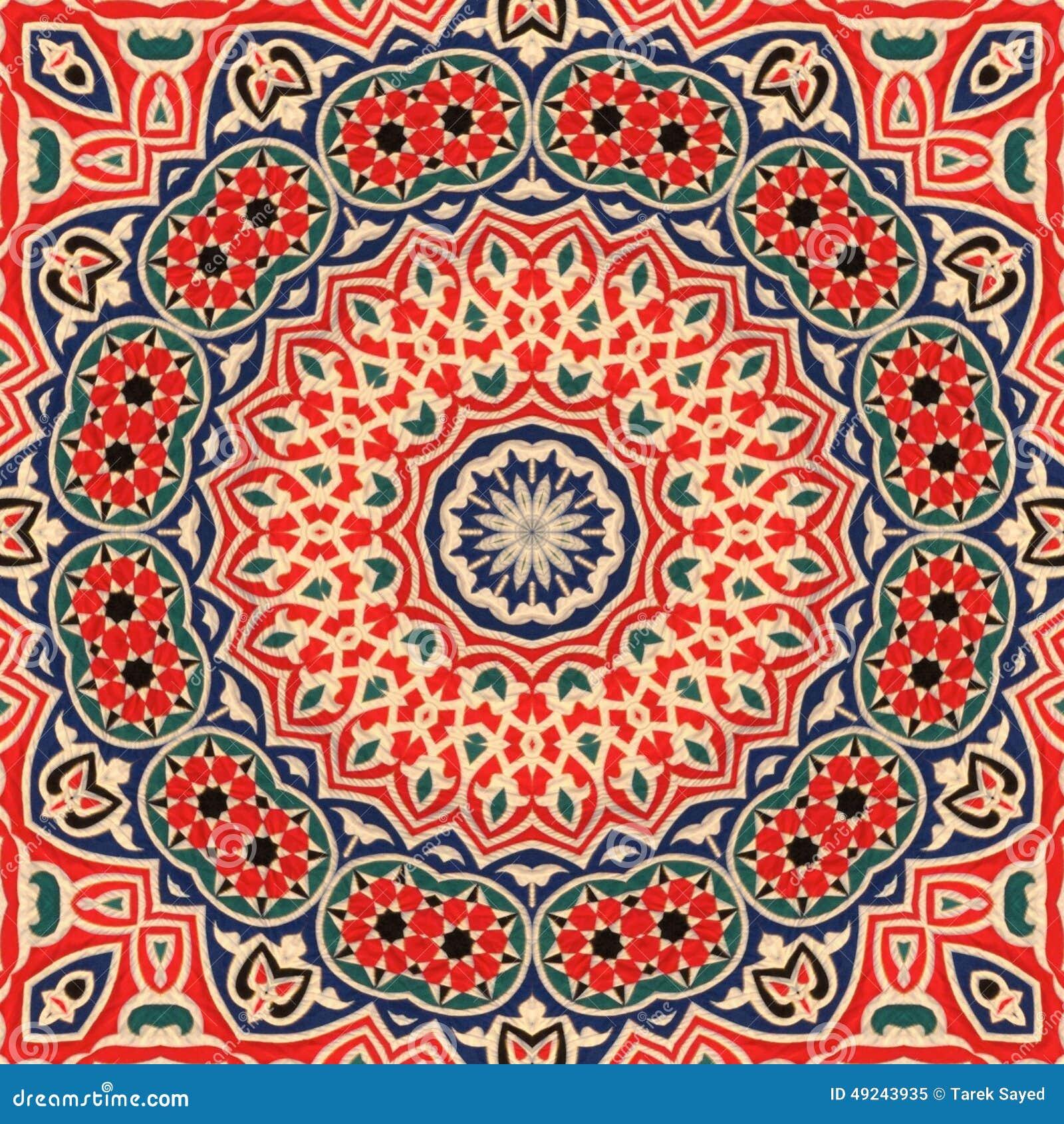 Seamless Khayameya Pattern Design 003 Stock Photo - Image: 49243935 Easy Arabesque Art