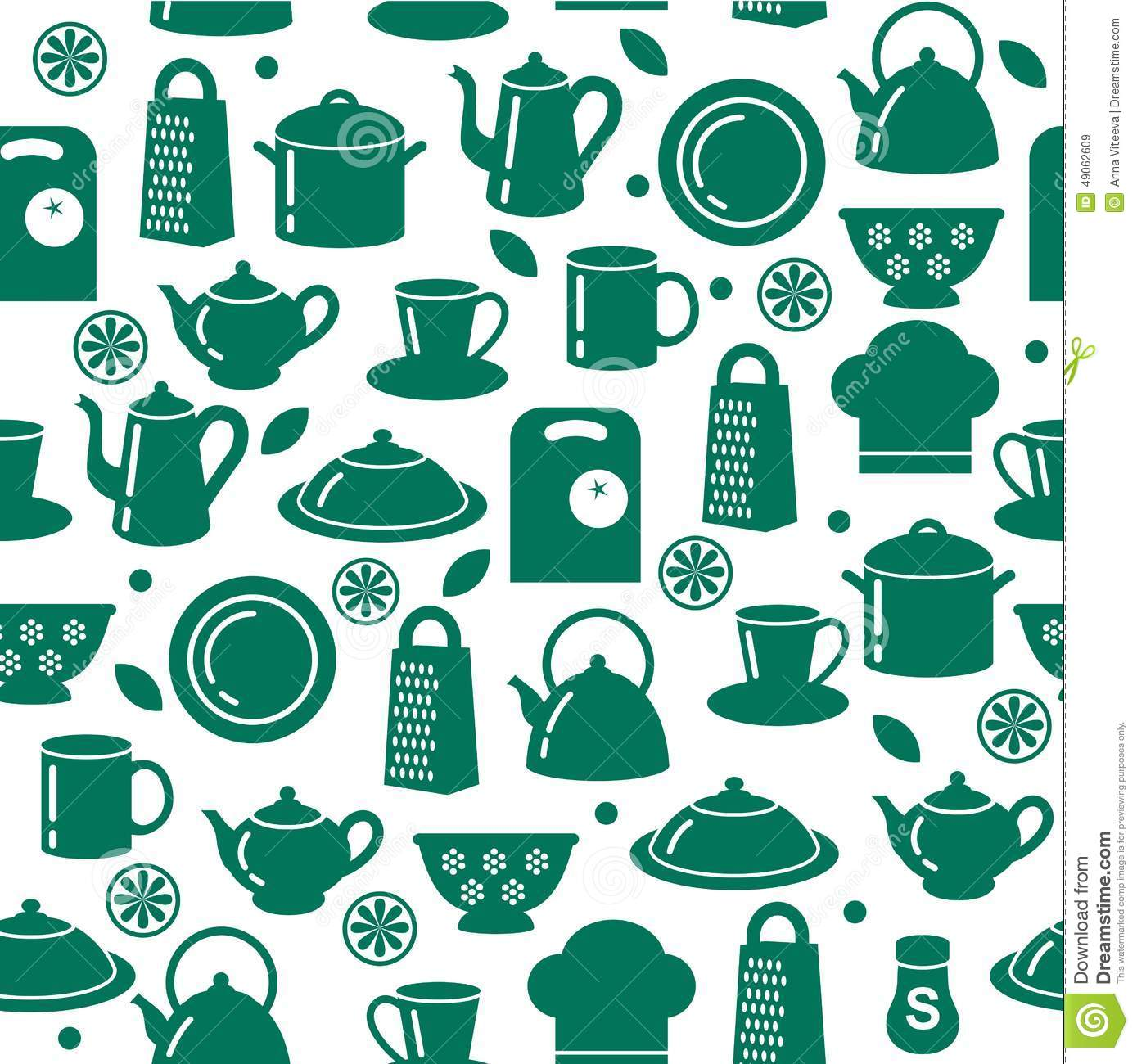 Kitchen Utensils Background: Cooking Seamless Pattern Outline Cutlery Background One Line