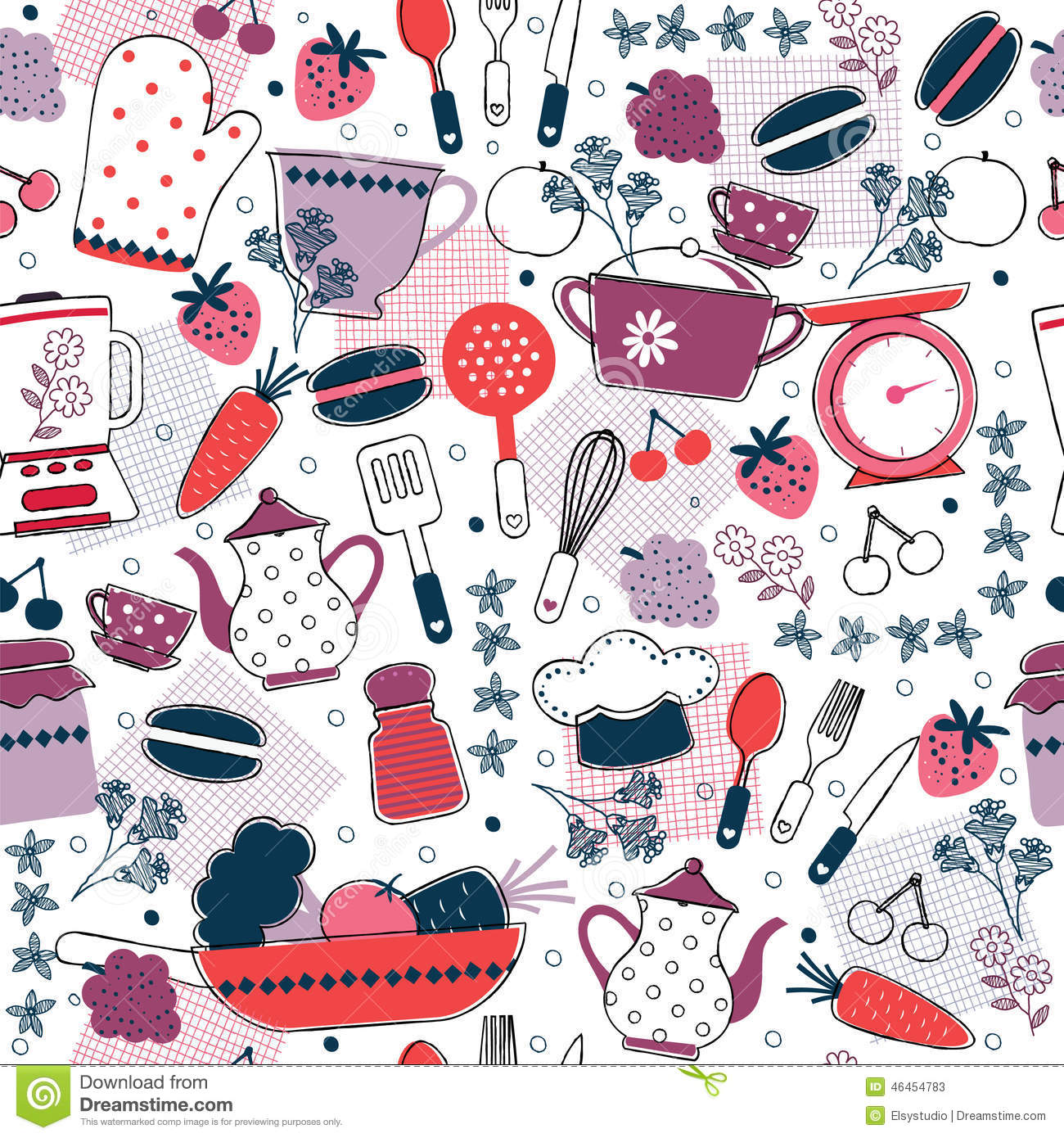 seamless kitchen wallpaper design vector file can be scaled to any sizes losing resolution 46454783