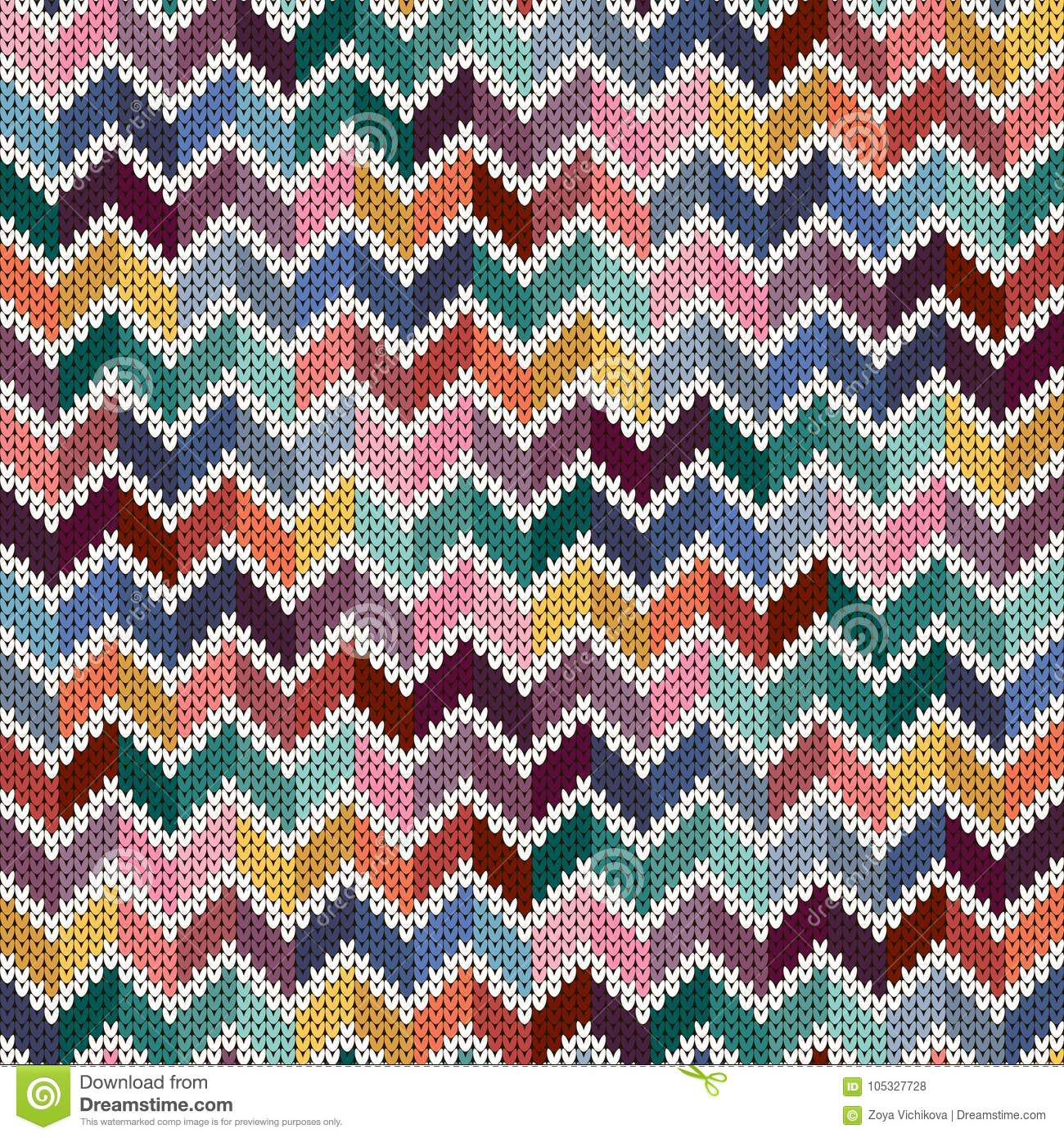 2b4bab282 Seamless Knitted Geometric Multicolor Pattern Stock Vector ...