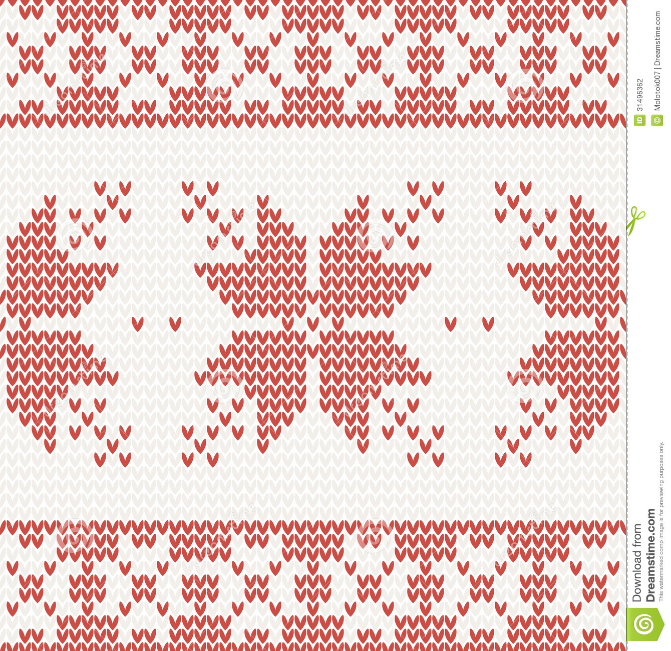 Seamless Knitted Pattern With Christmas Ornament Stock Vector ...