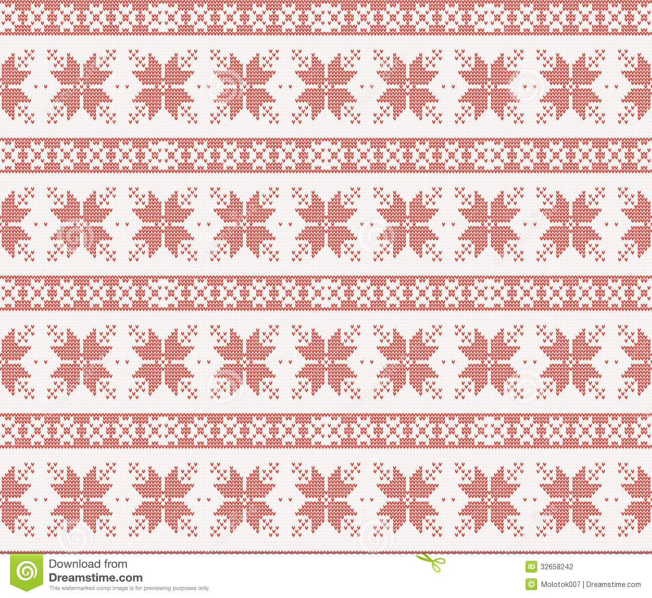 Knit Pattern Christmas Vector : Seamless Knitted Pattern With Christmas Ornament Stock Photography - Image: 3...