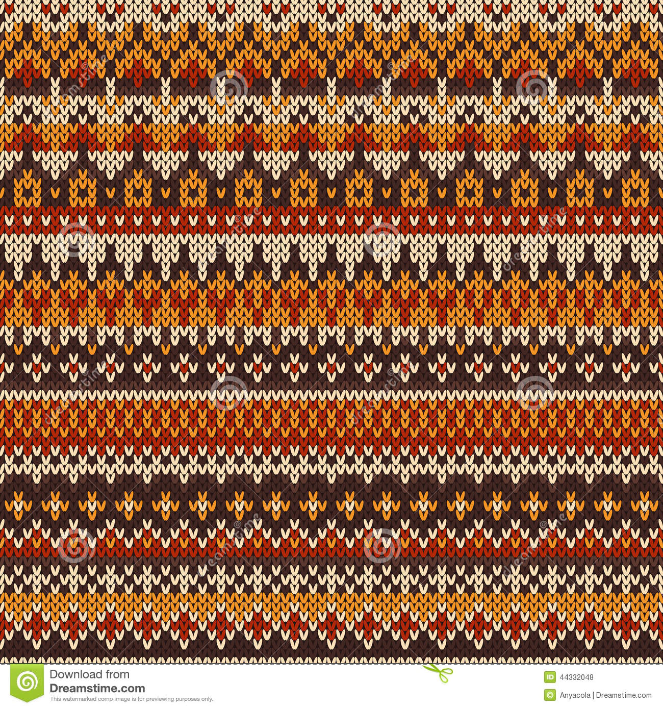 Fair Isle Patterns For Knitting : Seamless Knitted Pattern In Fair Isle Style Stock Vector - Image: 44332048