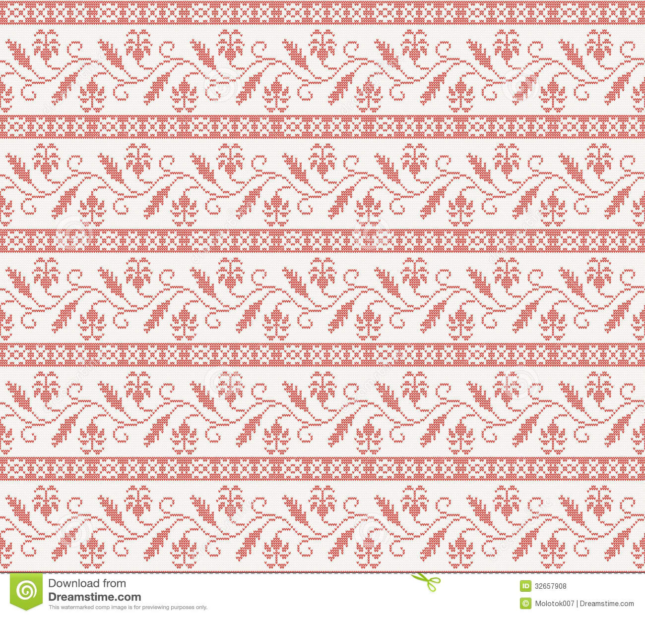 Seamless knitted pattern with red flower stock vector image seamless knitted pattern with red flower bankloansurffo Images