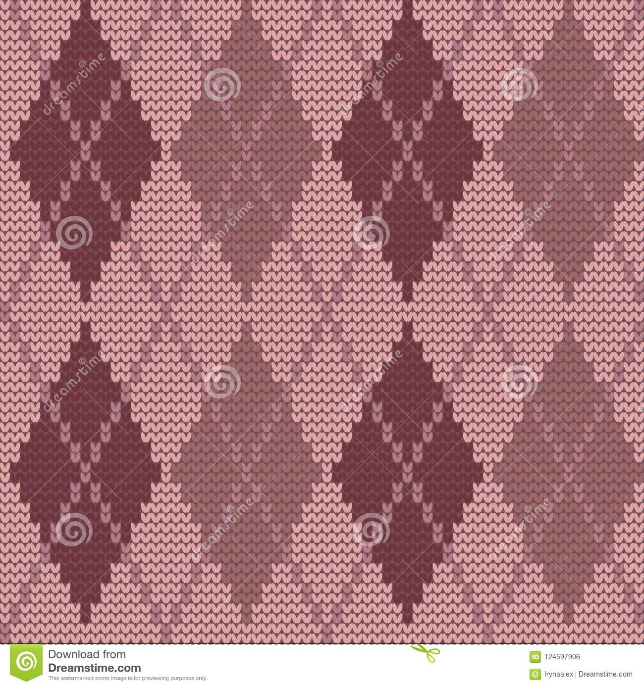 Seamless Knitted Pattern With Rhombuses. Argyle Print ...