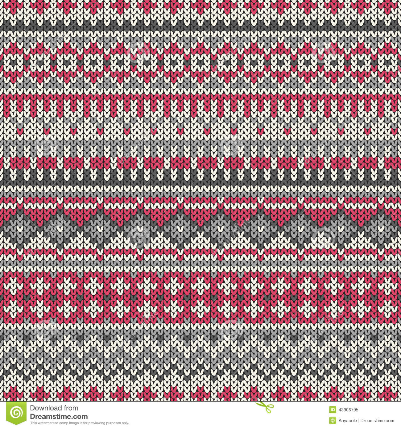 Seamless Knitted Pattern In Traditional Fair Isle Style. EPS Available Stock ...
