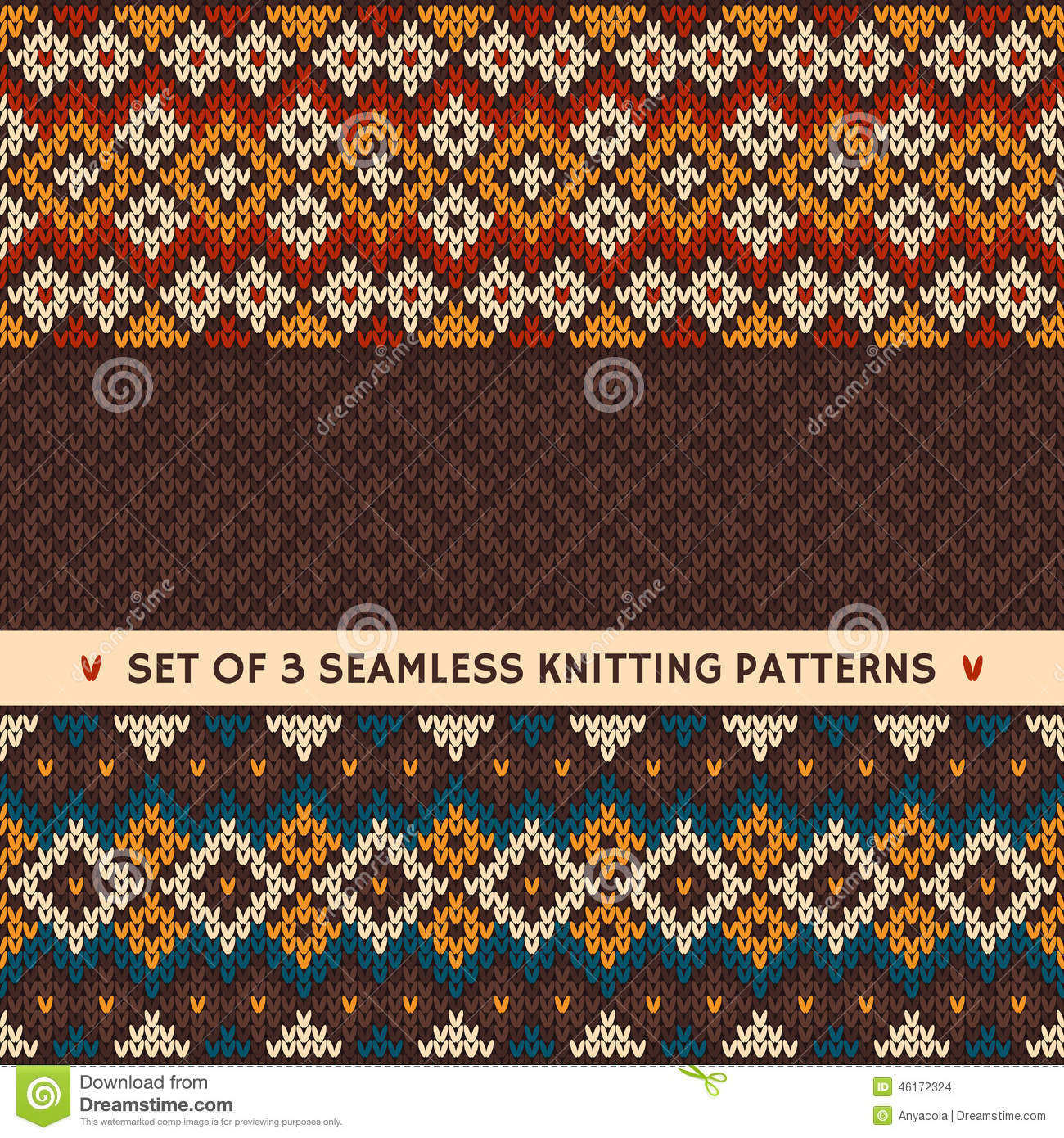 seamless knitted pattern  vector background stock vector