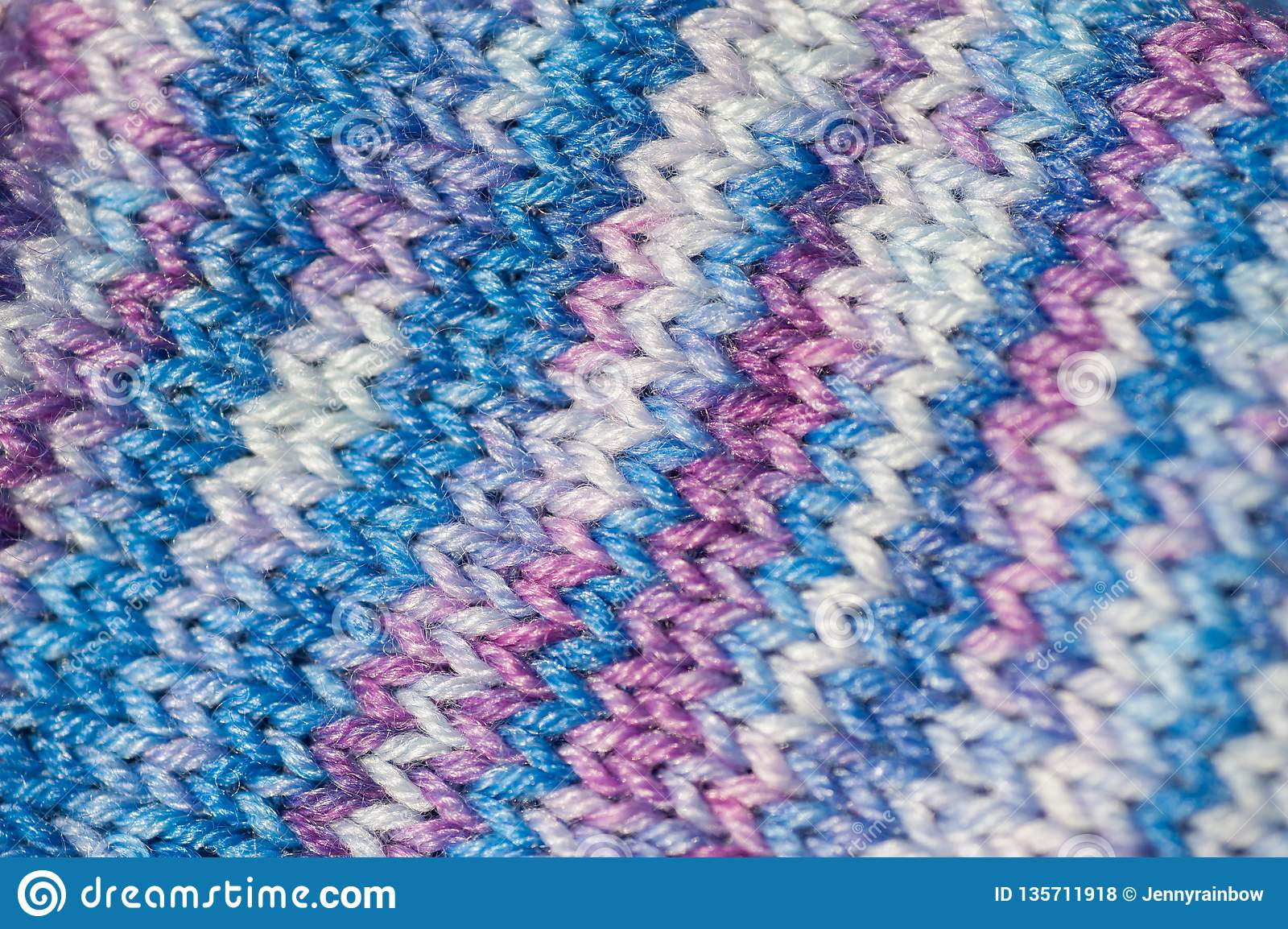 Seamless Knitted Patterns In Pastel Colors. Realistic ...
