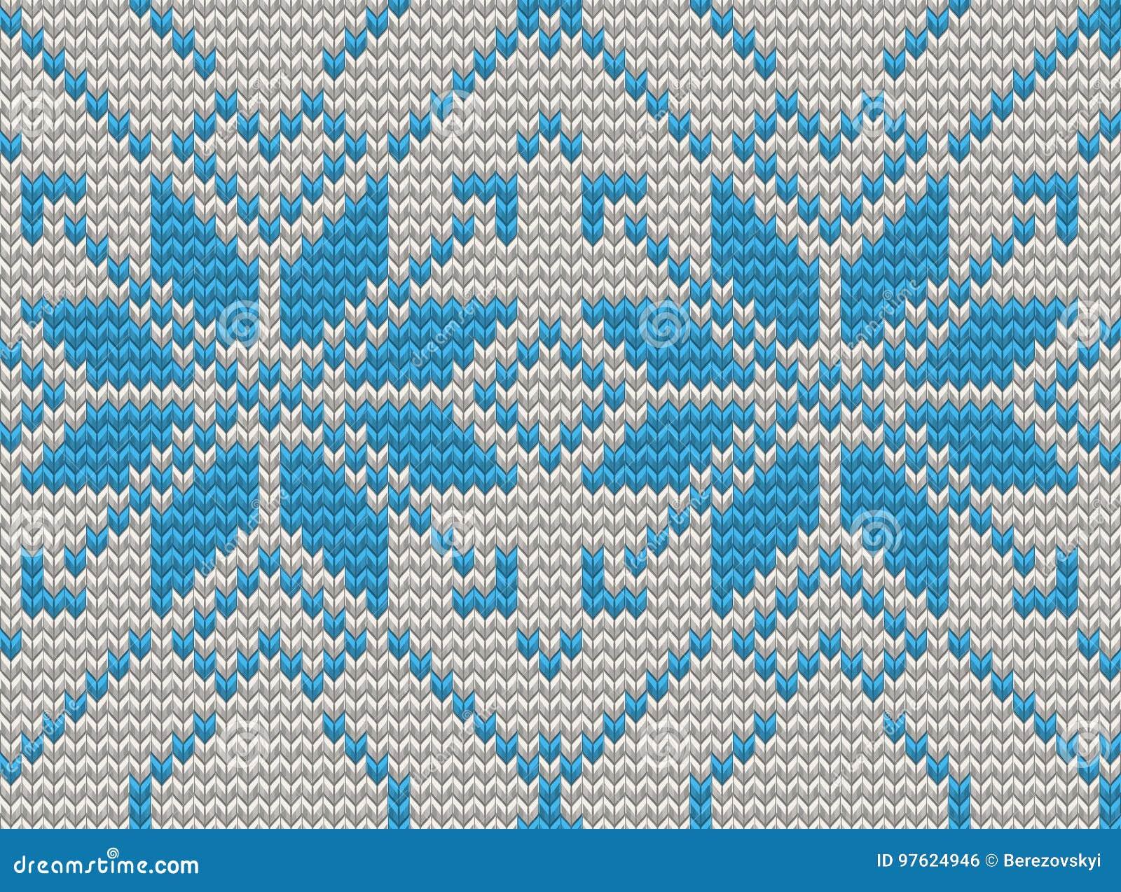 20281d7d3bde Seamless Knitting Pattern Christmas Sweater Design. EPS 10 Vector ...