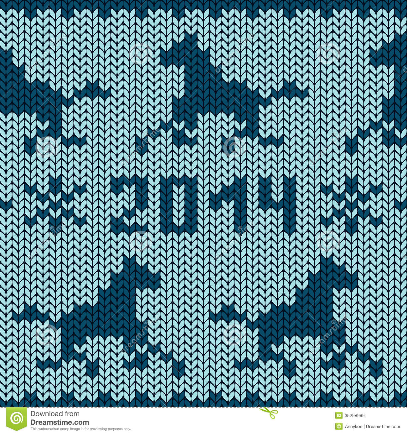 Seamless Knitting Pattern With Horses Royalty Free Stock Images - Image: 3529...