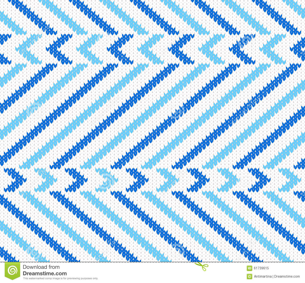 Seamless Knitting Pattern Stock Vector - Image: 61739615