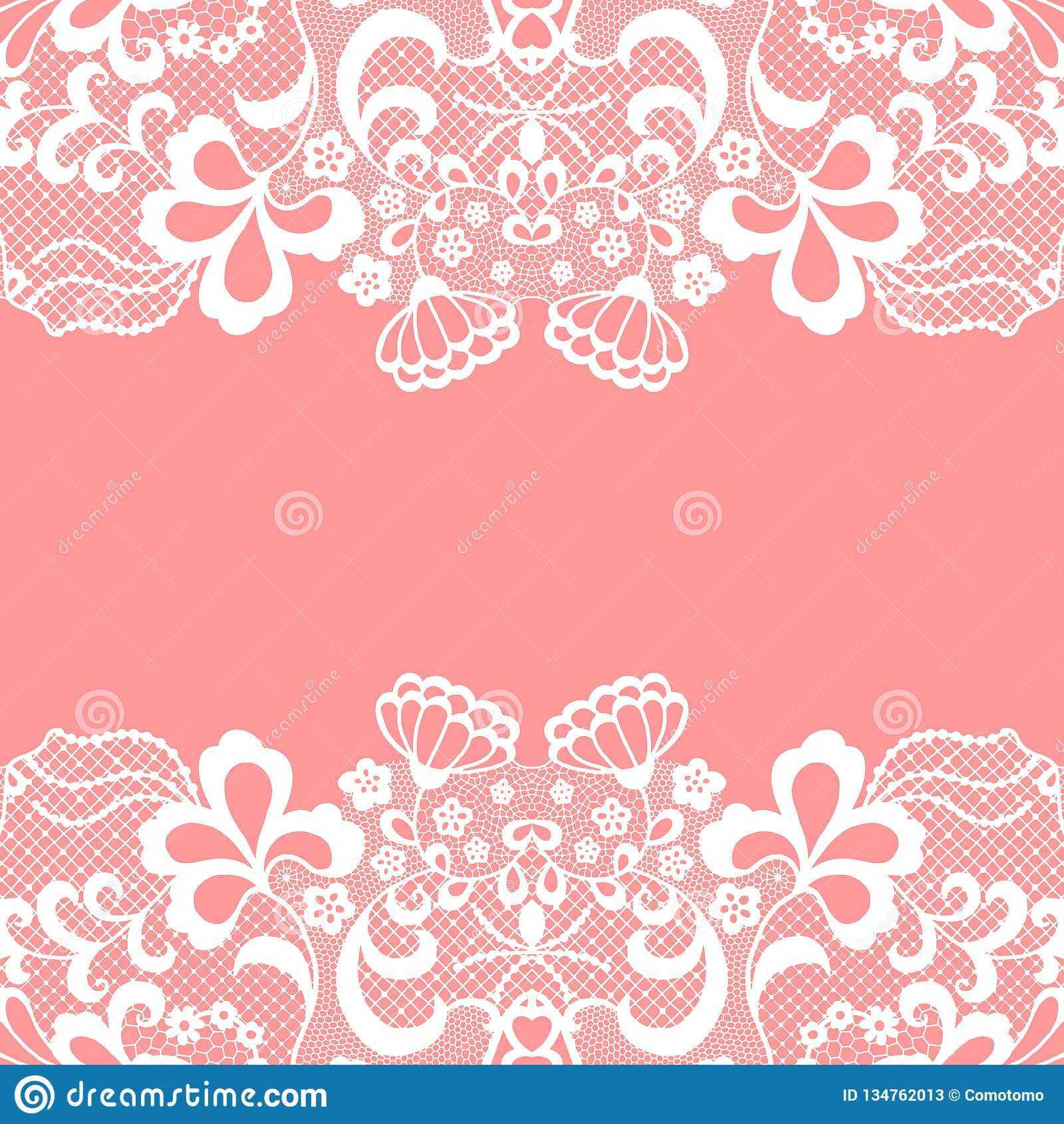 seamless lace border vector illustration white lacy