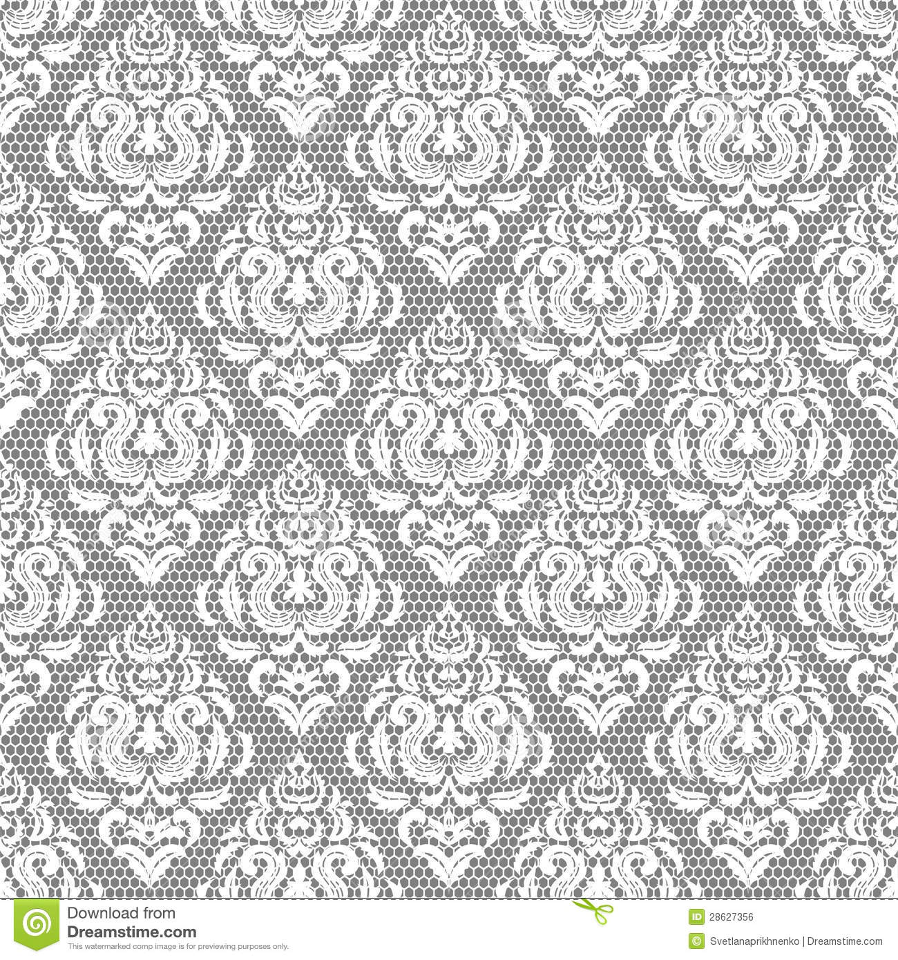 Seamless Lace Floral Pattern Royalty Free Stock Image