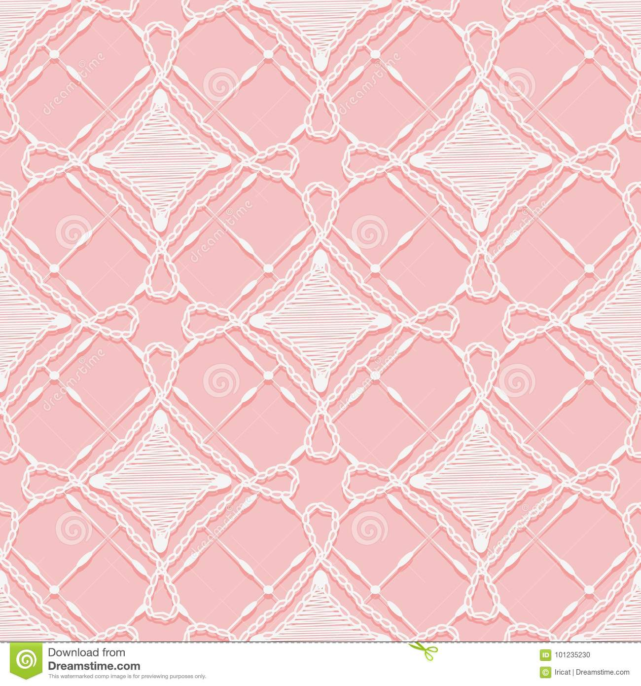 Seamless Lace Pattern. Imitation Hand Crochet Openwork Ornament ...