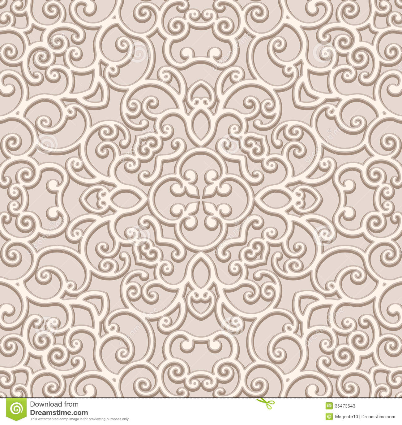 Seamless Lace Pattern ...