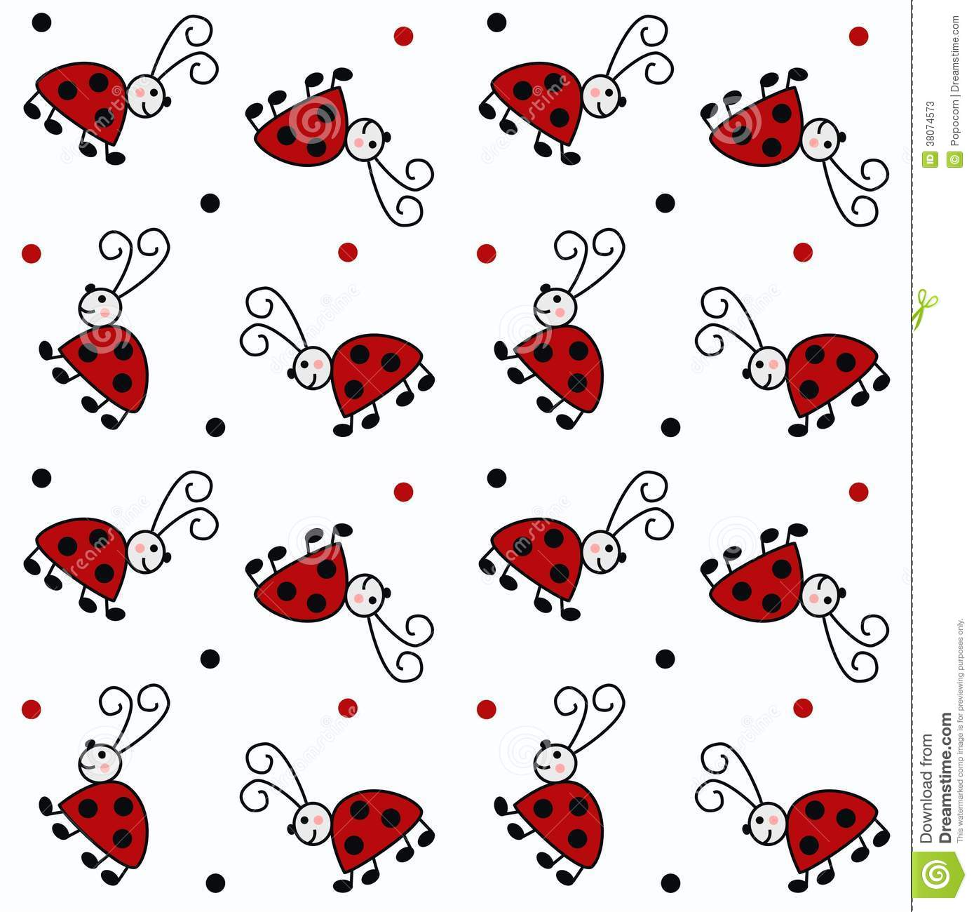 Seamless ladybug patternbackground backdropchildren fashion industry ...