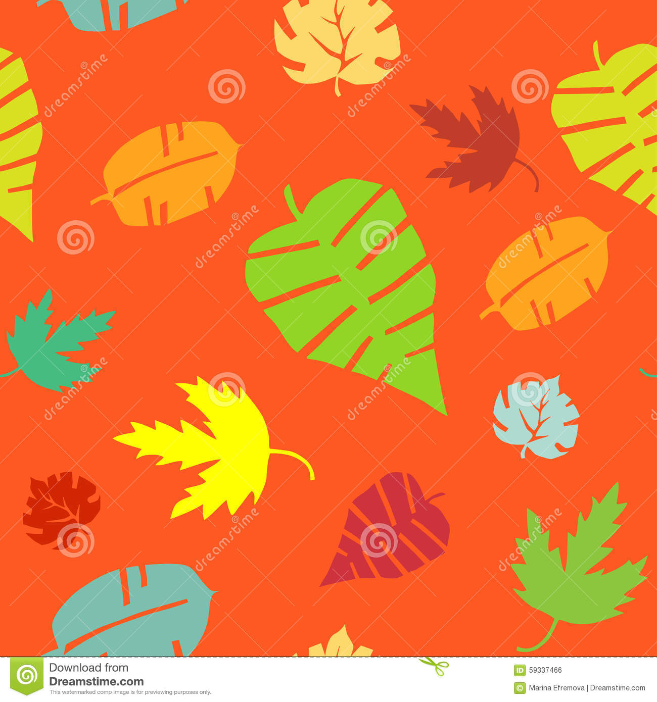 leaf pattern. Endless texture can be used for printing onto fabric ...