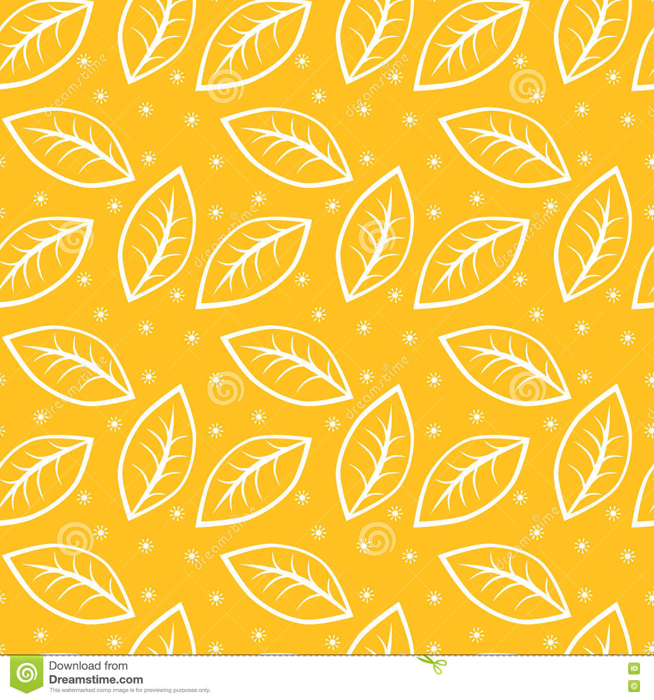 Seamless Leaves Autumn Background