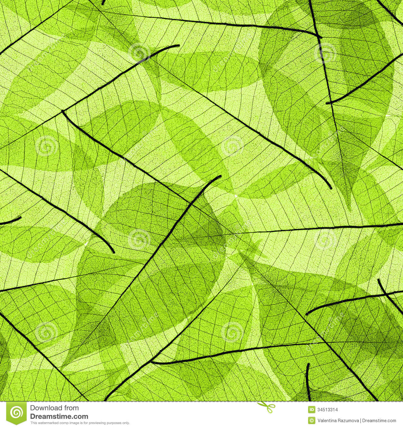 Seamless green leaves background. See my other works in portfolio.
