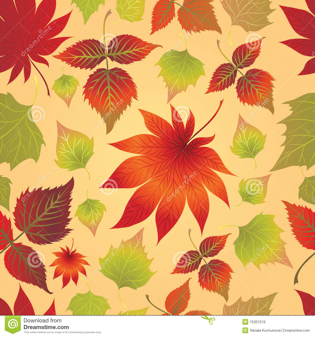 Seamless leaves background. Thanksgiving