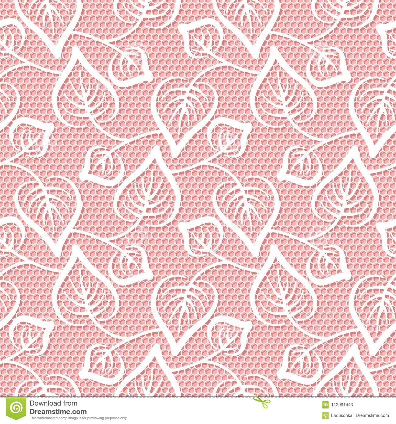 Seamless leaves lace pattern